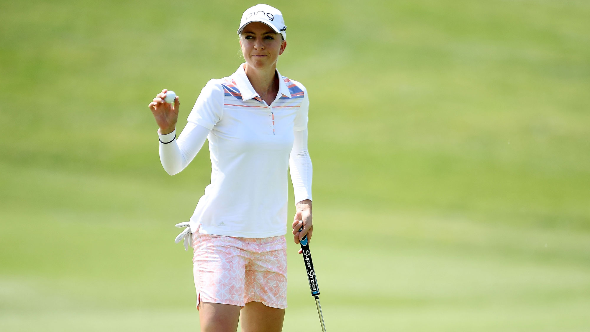 Sophia Popov After a Birdie at the Meijer LPGA Classic