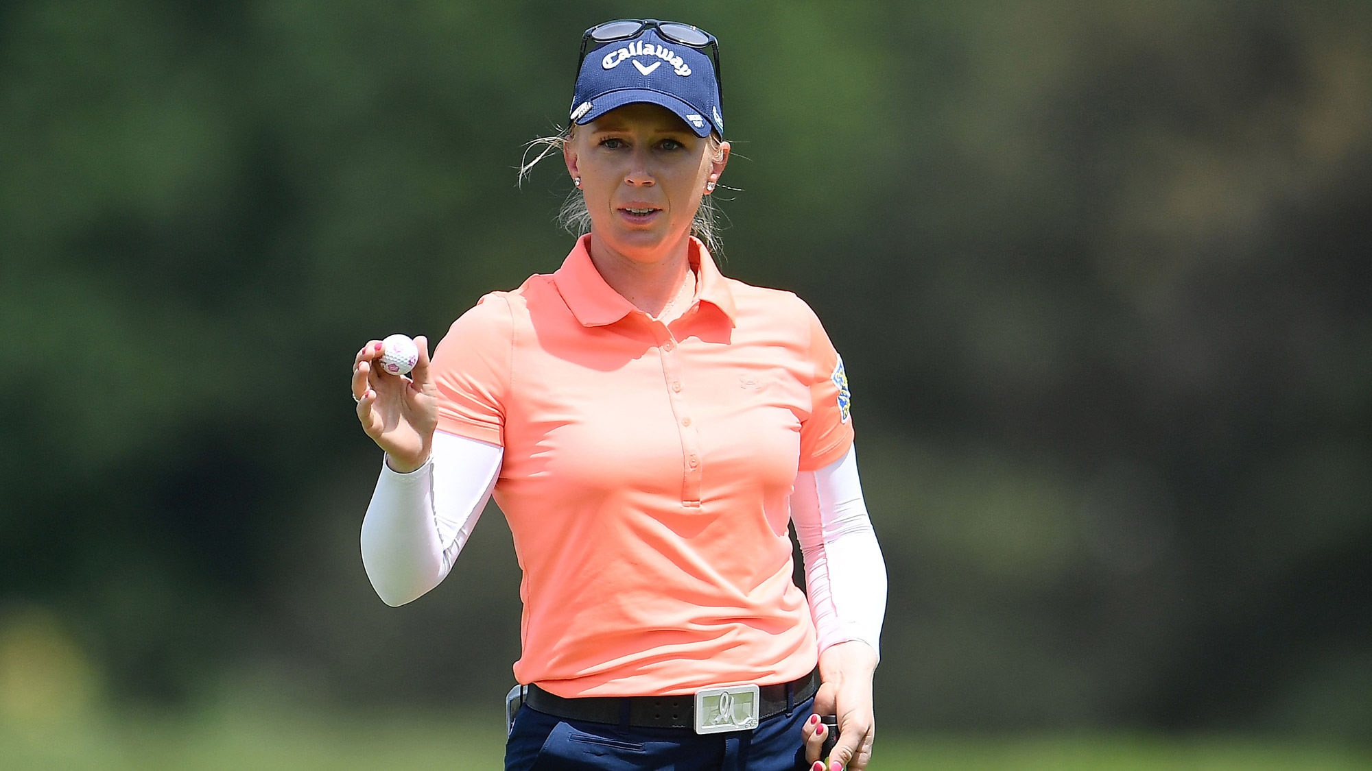 Morgan Pressel Acknowledges the Crowd at Meijer LPGA Classic