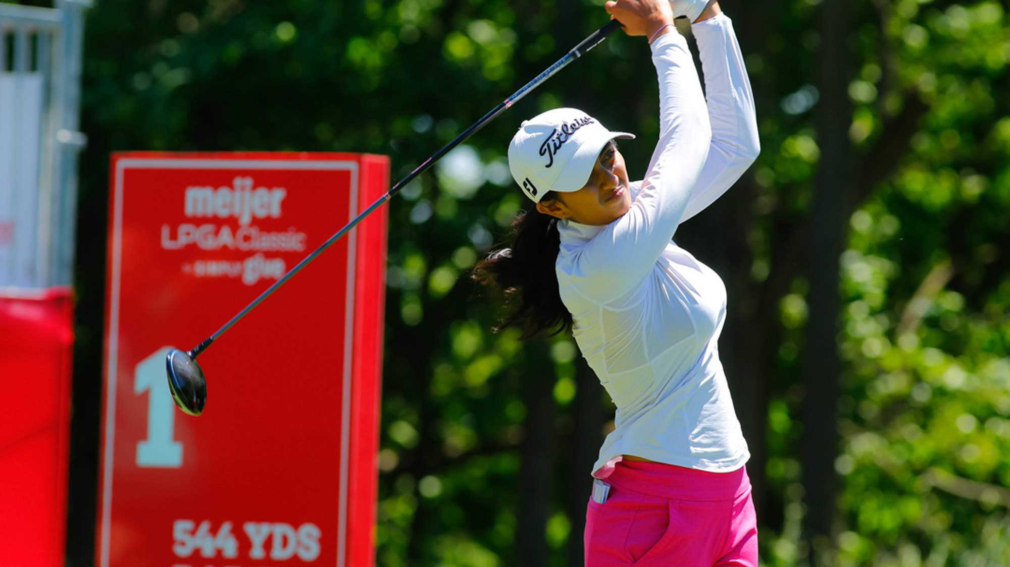 Aditi Ashok Swings in the Pro-Am at the Meijer LPGA Classic