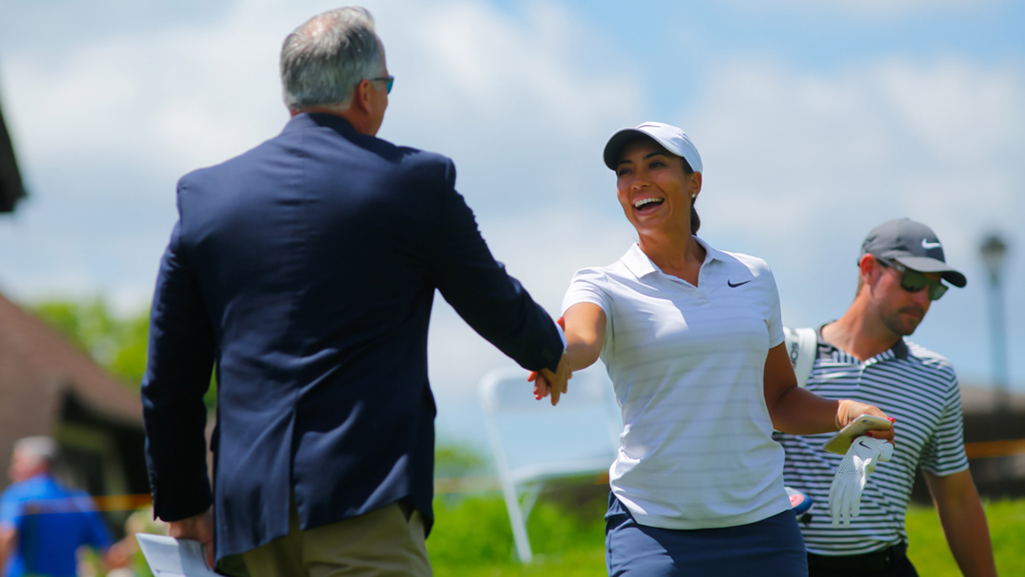 Cheyenne Woods Meets the Starter at the Meijer LPGA Classic