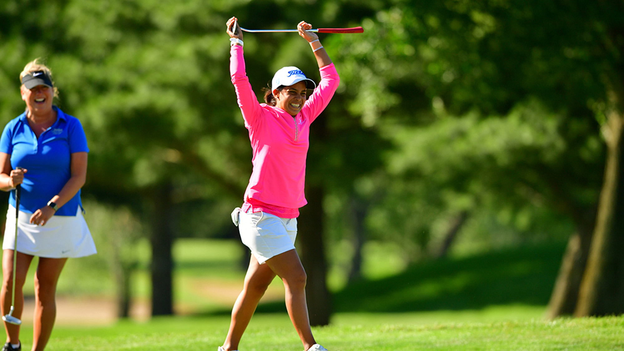 Julieta Granada Celebrates in the Pro-Am at Meijer LPGA Classic