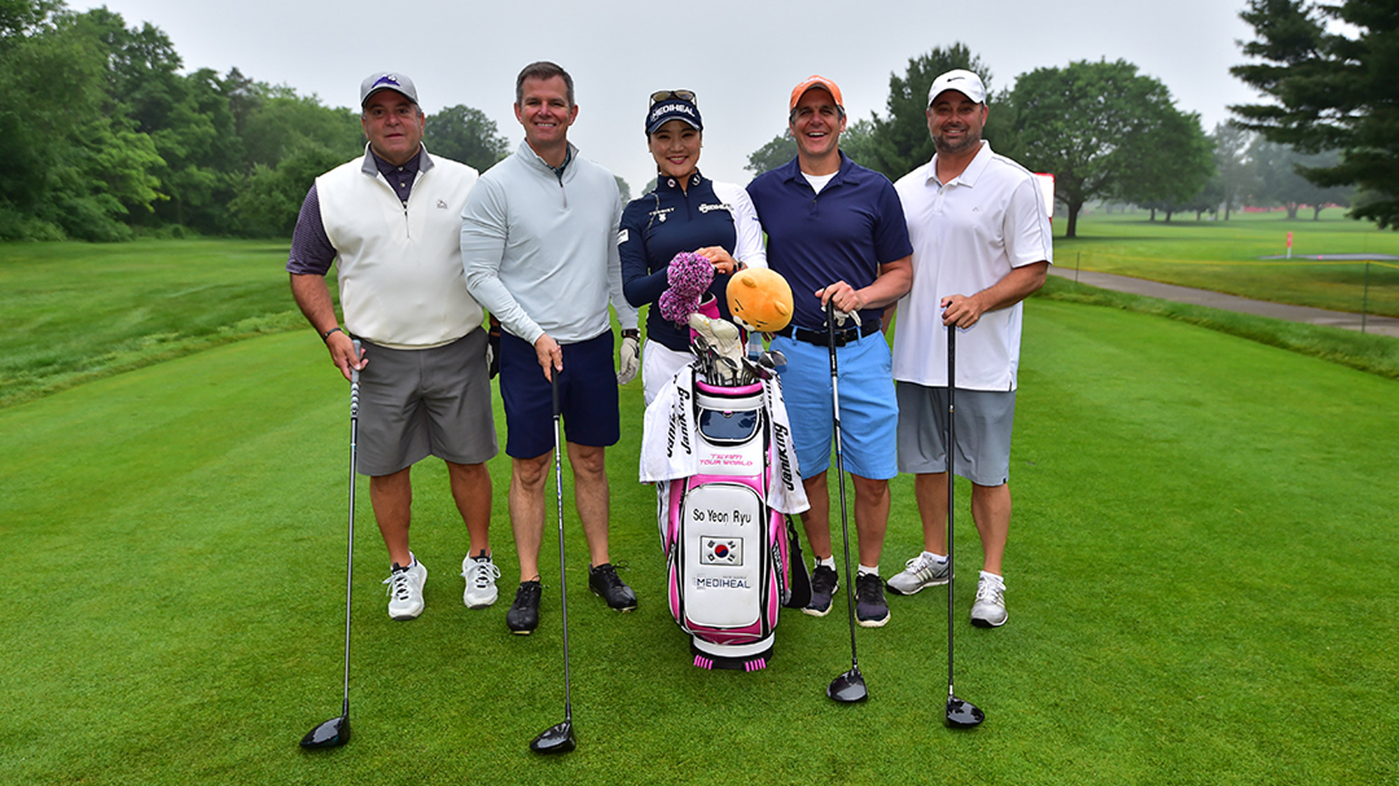 So Yeon Ryu with Her Pro-Am Group at the Meijer LPGA Classic