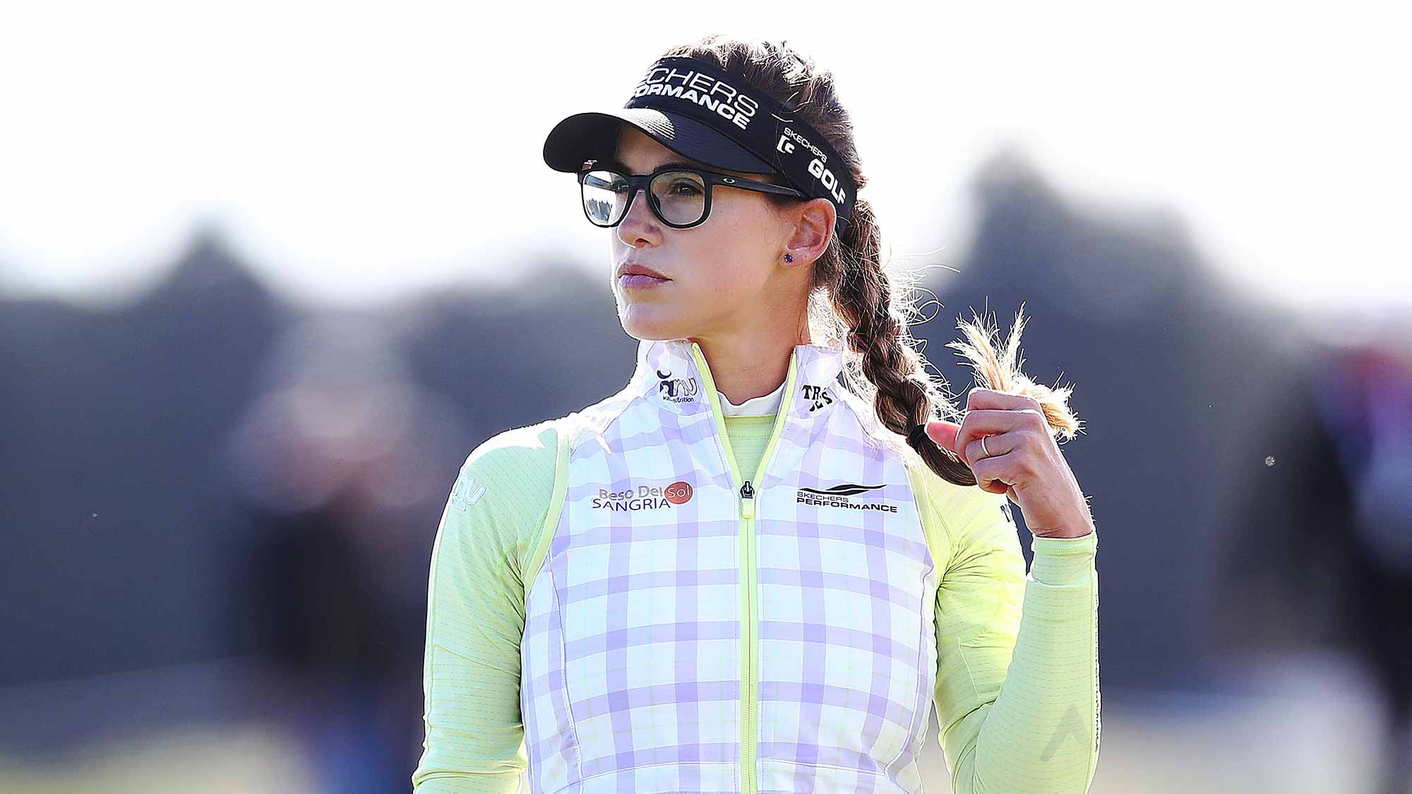 Belen Mozo of Spain looks on during day two of the New Zealand Women's Open at Windross Farm