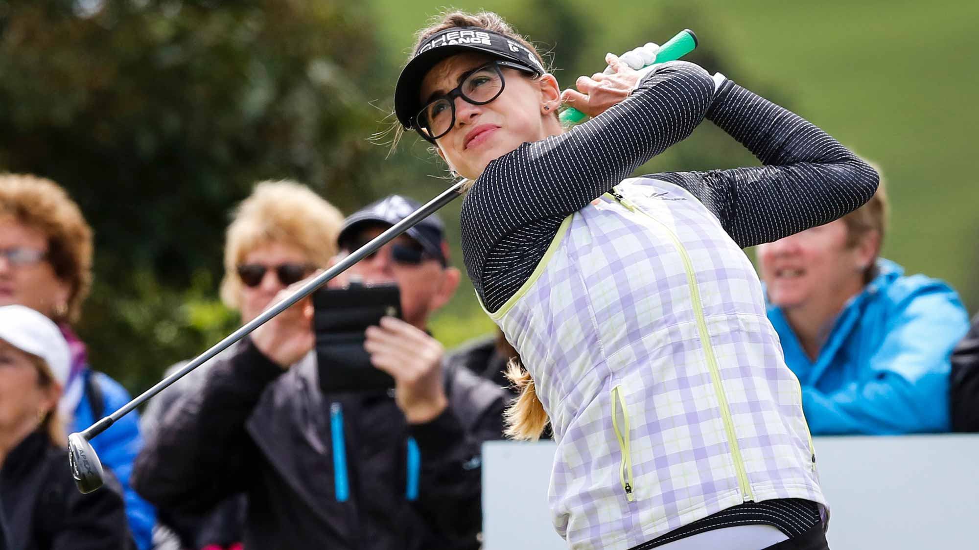 Belen Mozo Hits Her Tee Shot During Third Round of MCKAYSON New Zealand Women's Open