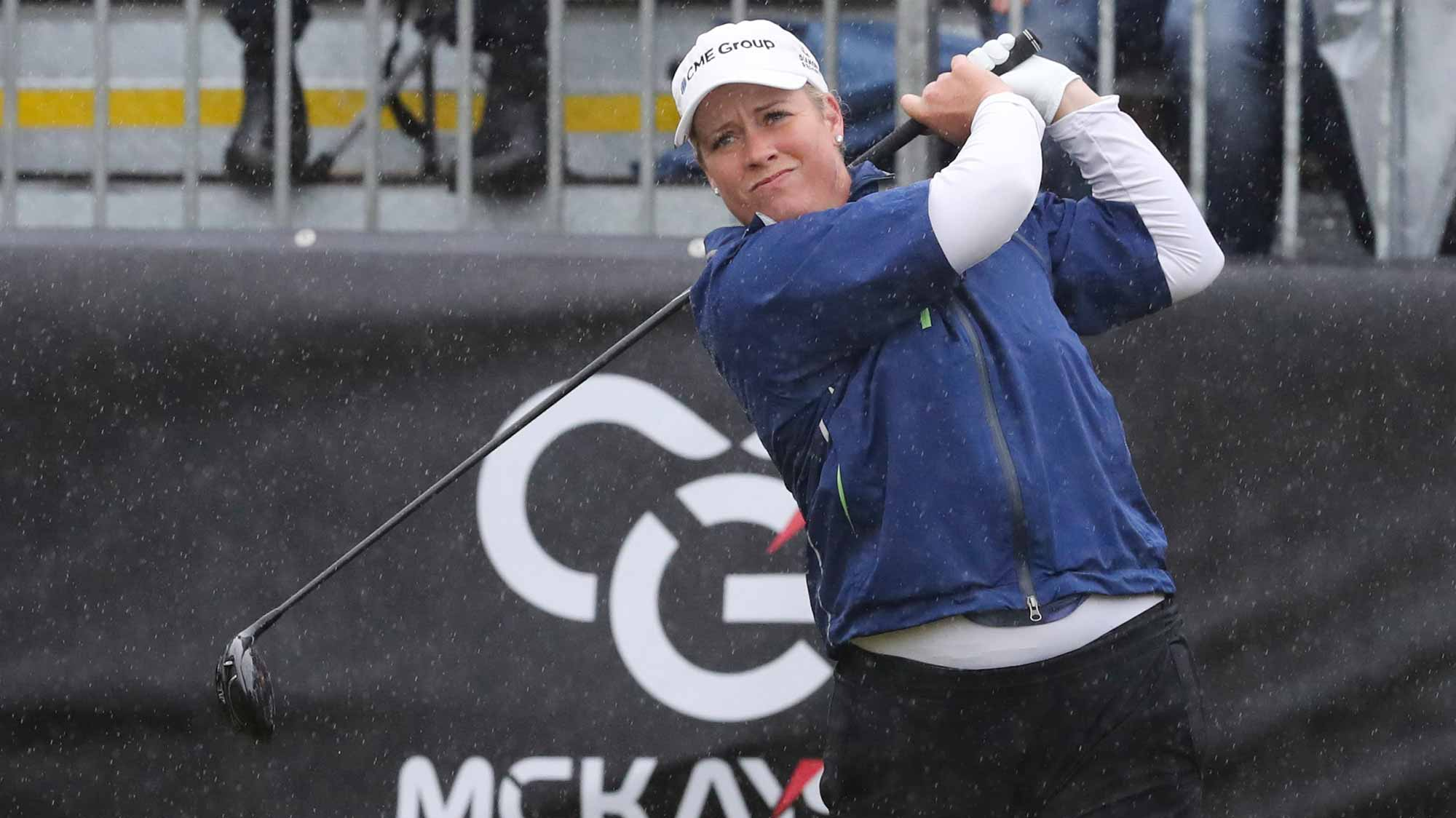Brittany Lincicome Hits Her Tee Shot During The Final Round of the MCKAYSON New Zealand Women's Open