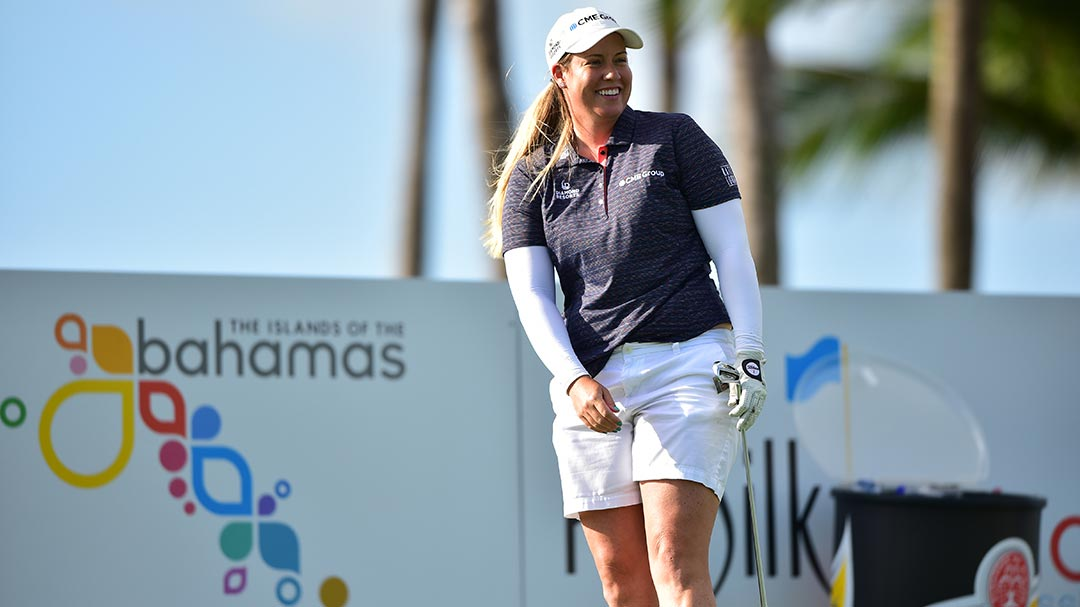 Brittany Lincicome during a practice round before the 2017 Pure Silk Bahamas LPGA Classic