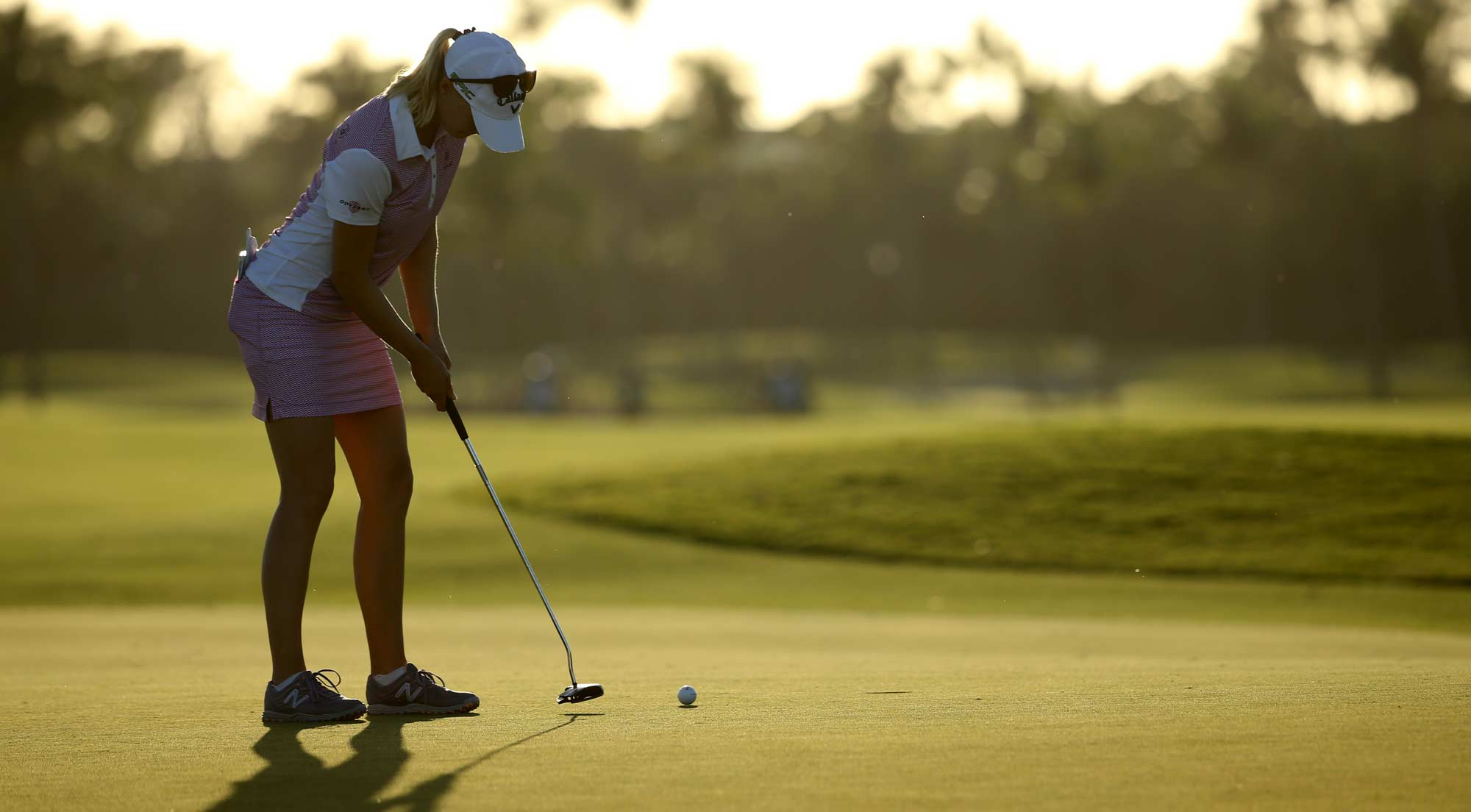 Madelene Sagstrom of Sweden putts on the seventh green during round one of the Pure Silk Bahamas LPGA Classic