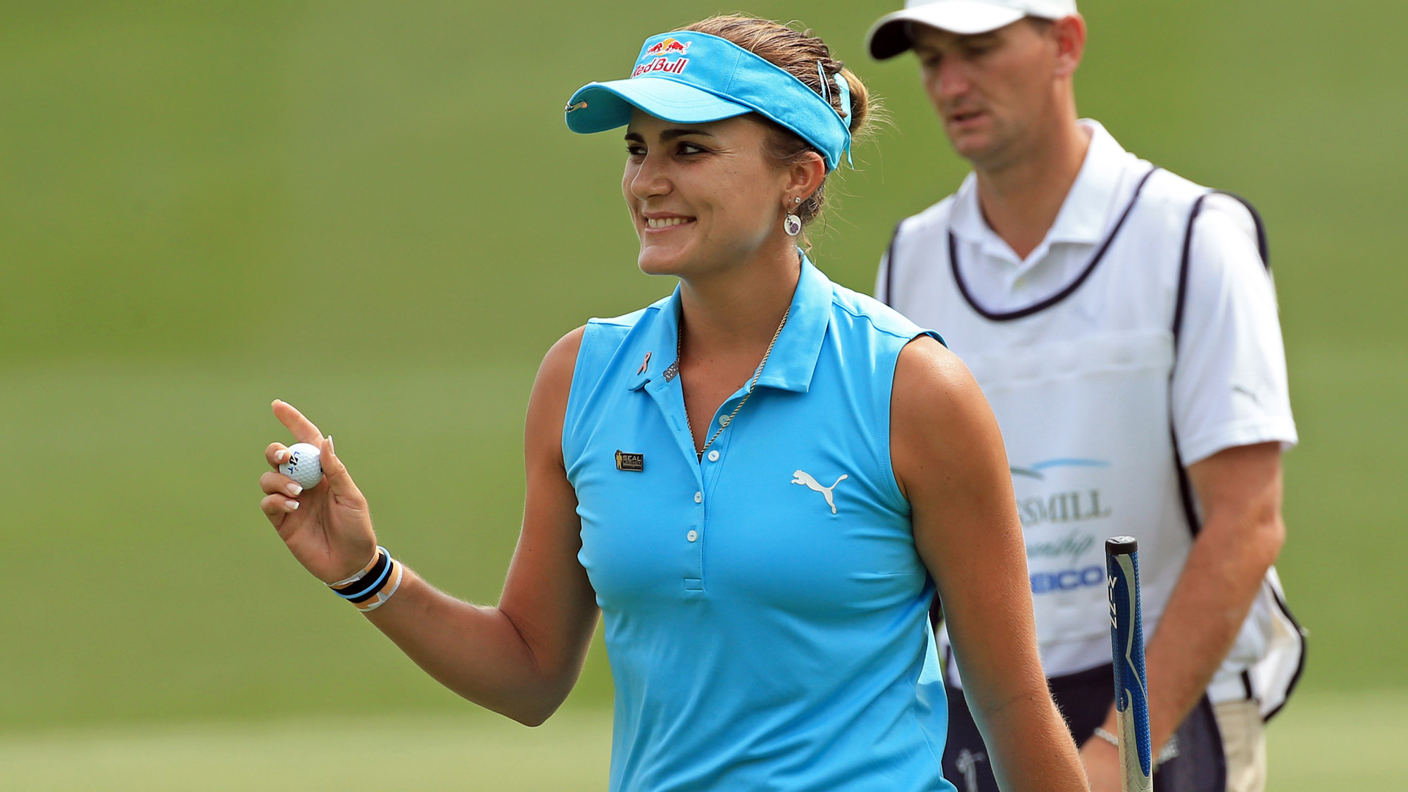 Lexi Thompson After a Birdie at Kingsmill Championship
