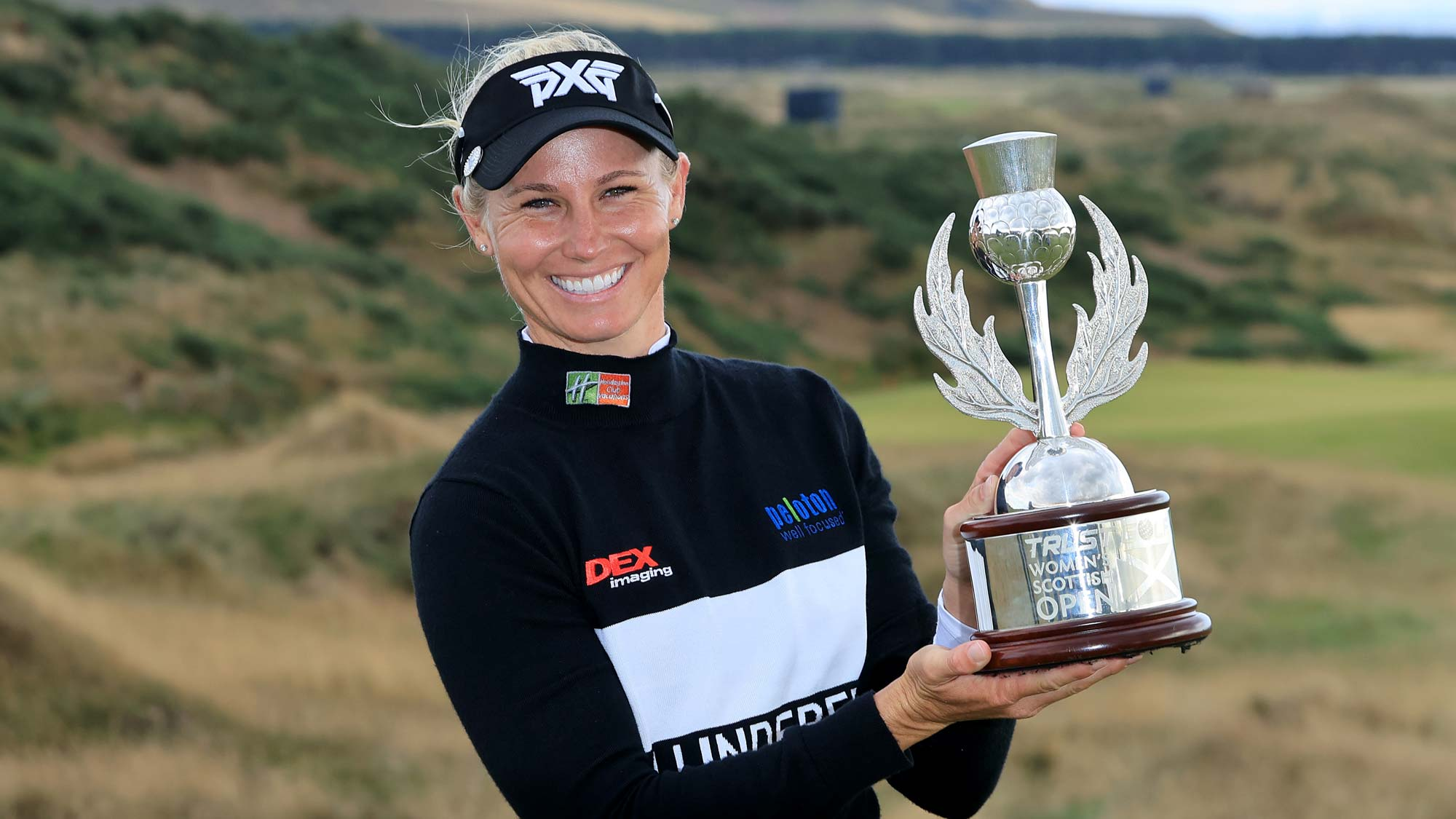 Ryann O'Toole of The United States poses with the trophy after her three shot win in the final round of the Trust Golf Women's Scottish Open