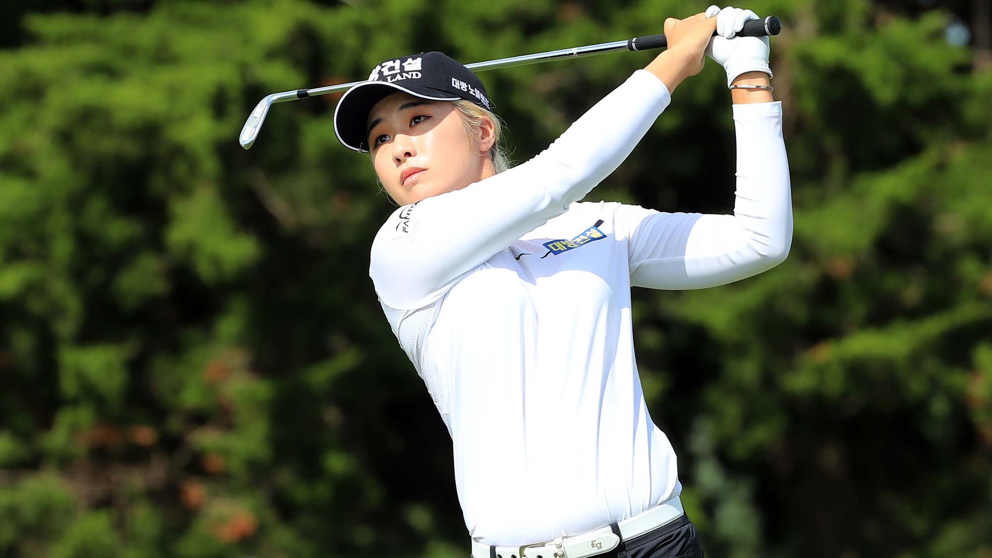 Jeongeun Lee6 of the Republic of Korea hits her second shot on the sixth hole during the second round of the ShopRite LPGA Classic presented by Acer