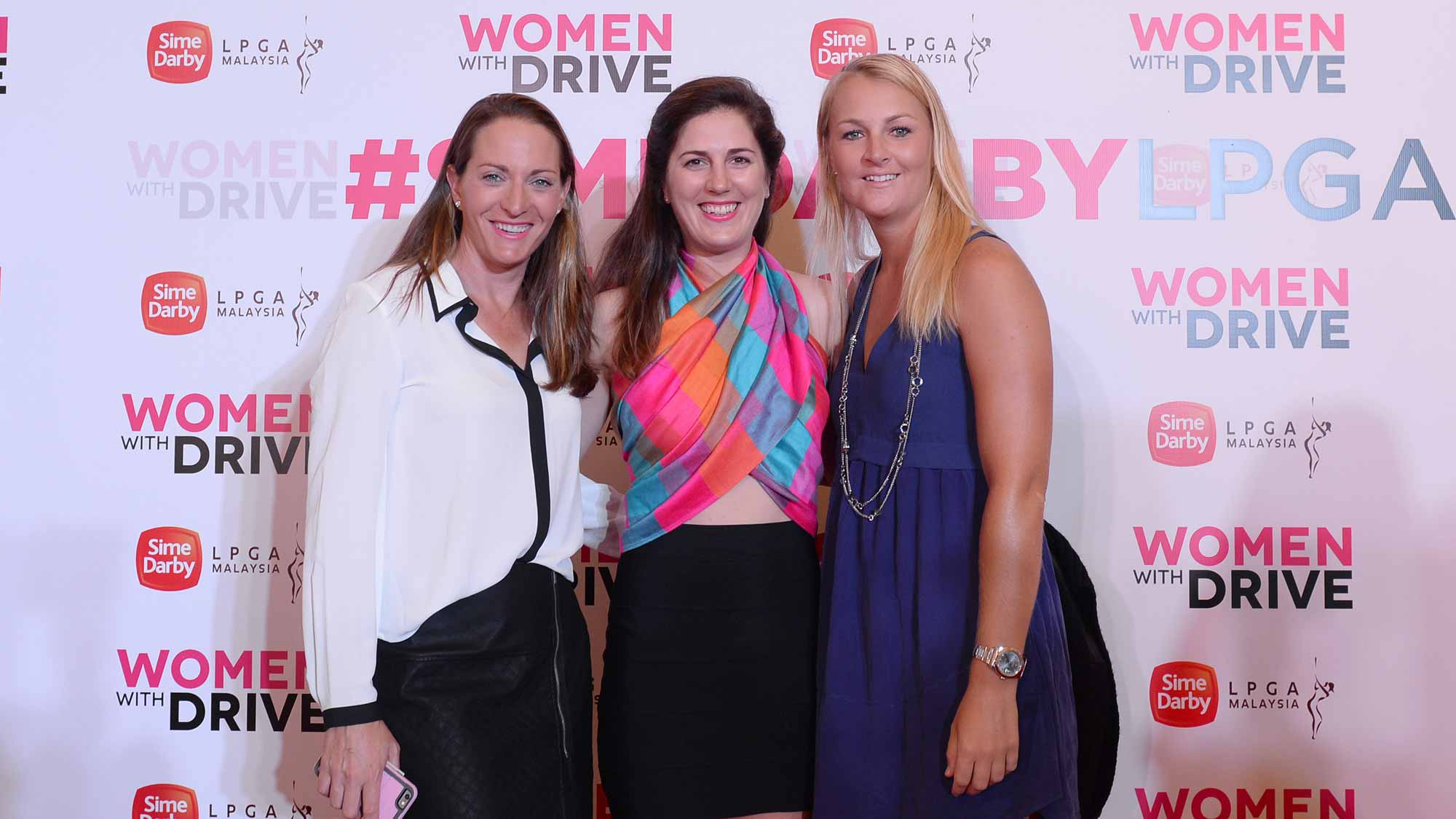 Brittany Lang, Sandra Gal and Anna Nordqvist at the Sime Darby LPGA Malaysia Red Carpet Gala