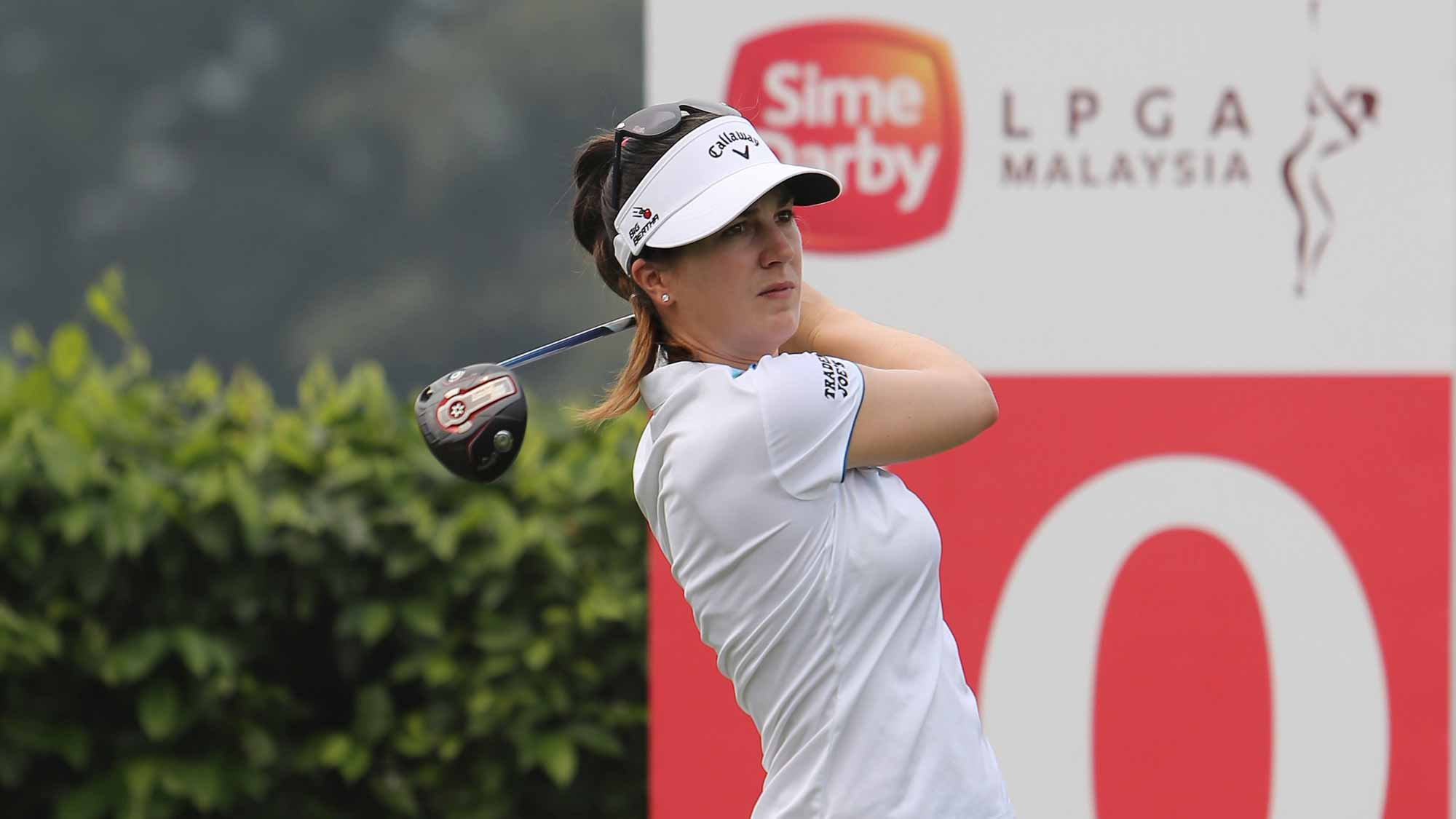 Sandra Gal during her practice round at the 2015 Sime Darby LPGA Malaysia