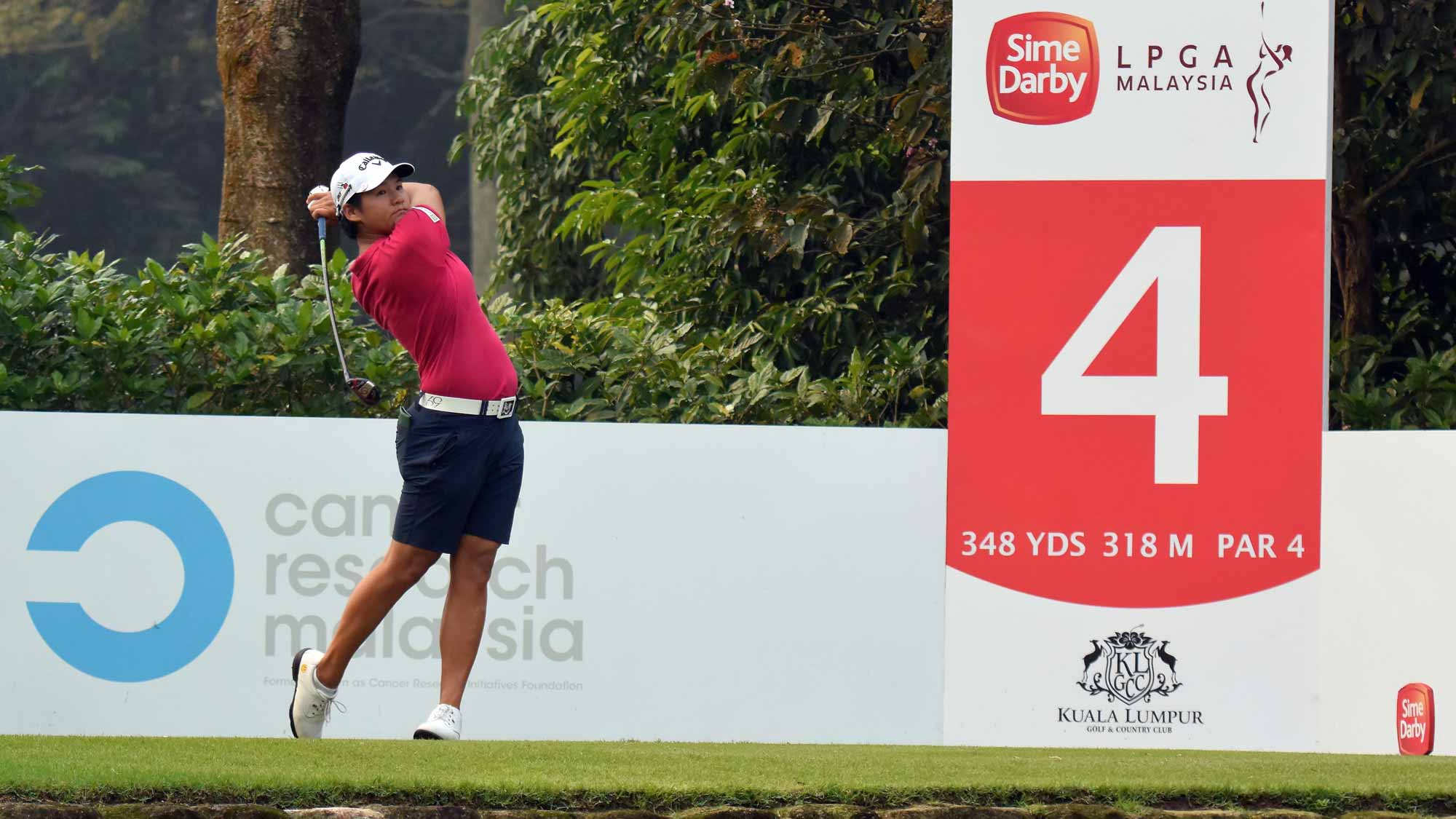 Yani Tseng of Chinese Taipei plays on the 4th hole during the final round of the Sime Darby LPGA Tour at Kuala Lumpur Golf & Country Club