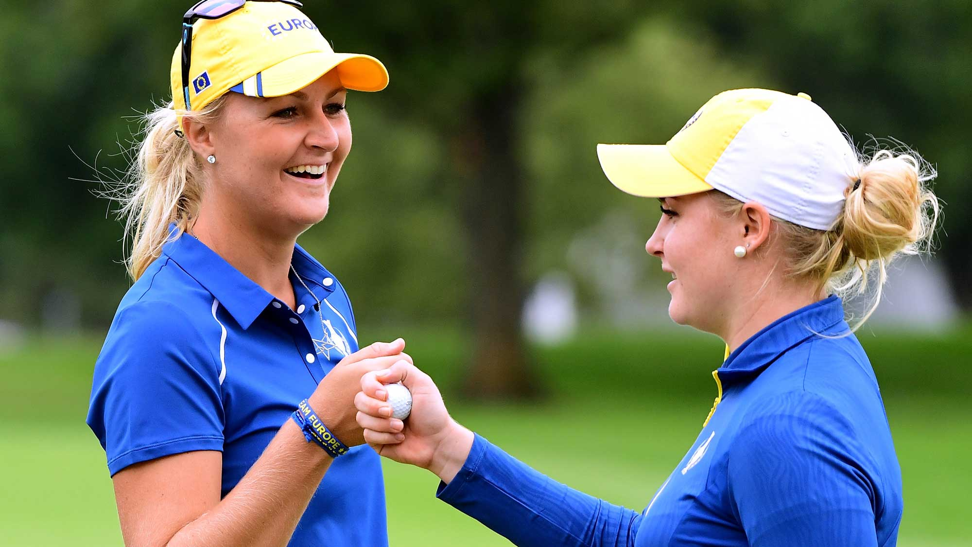 Anna Nordqvist and Charley Hull