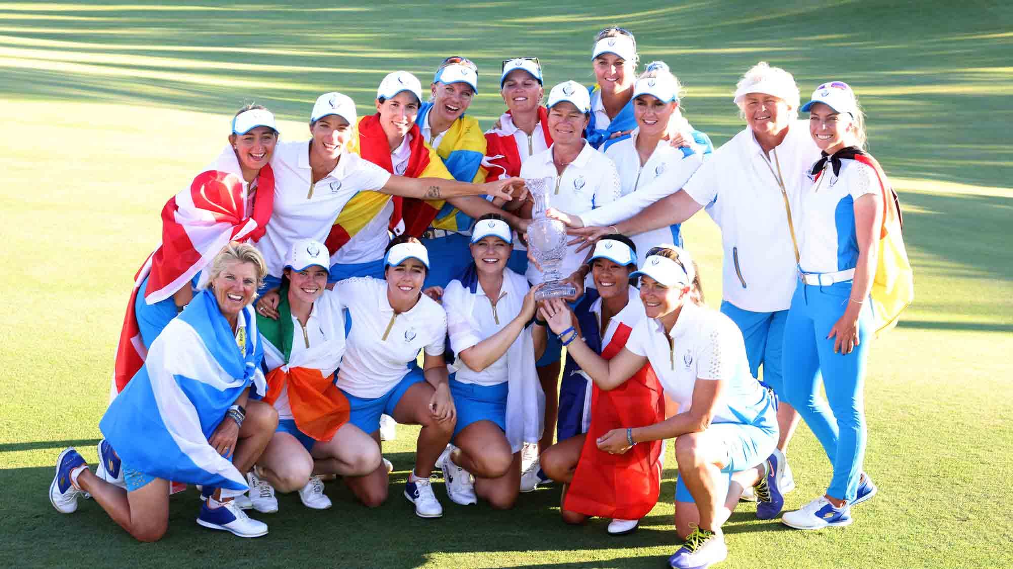 The victorious European Solheim Cup team