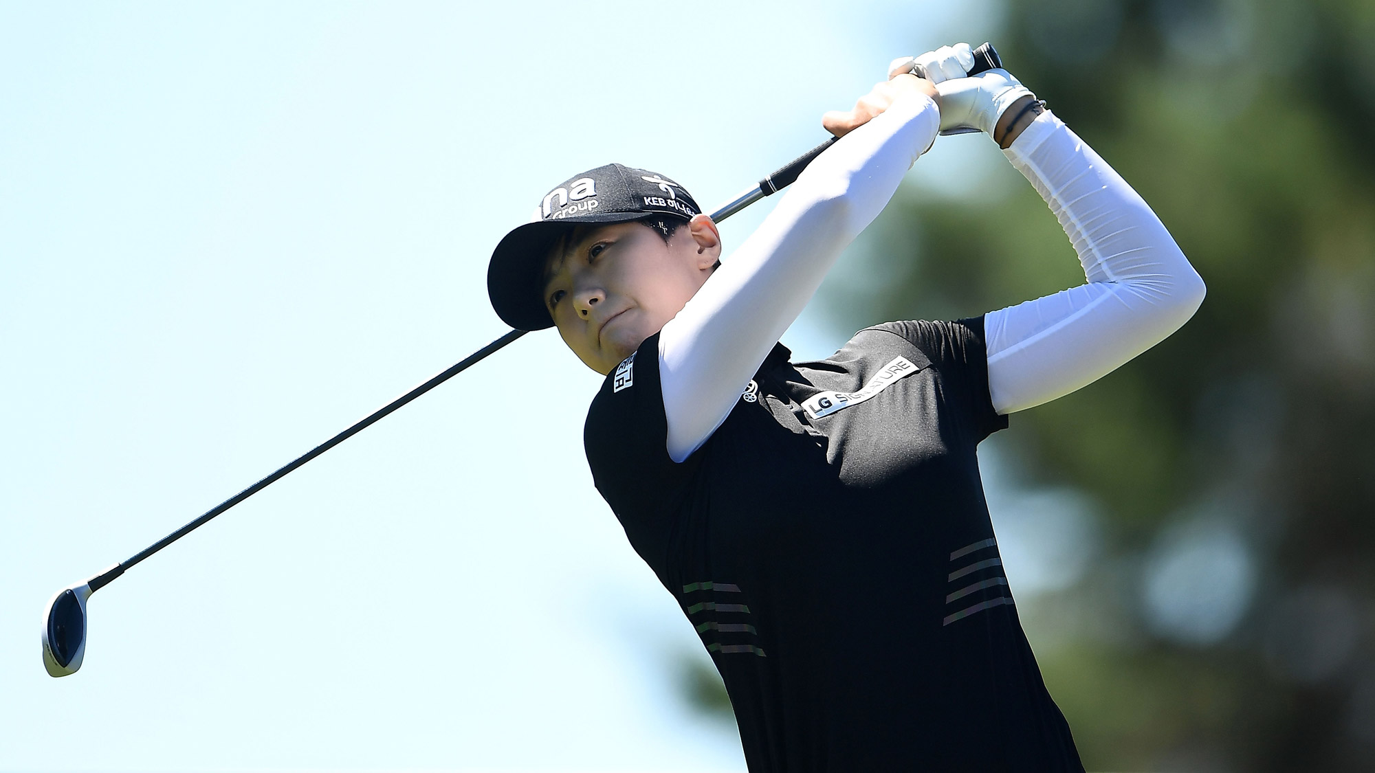 Sung Hyun Park Swings on Friday at the Thornberry Creek LPGA Classic