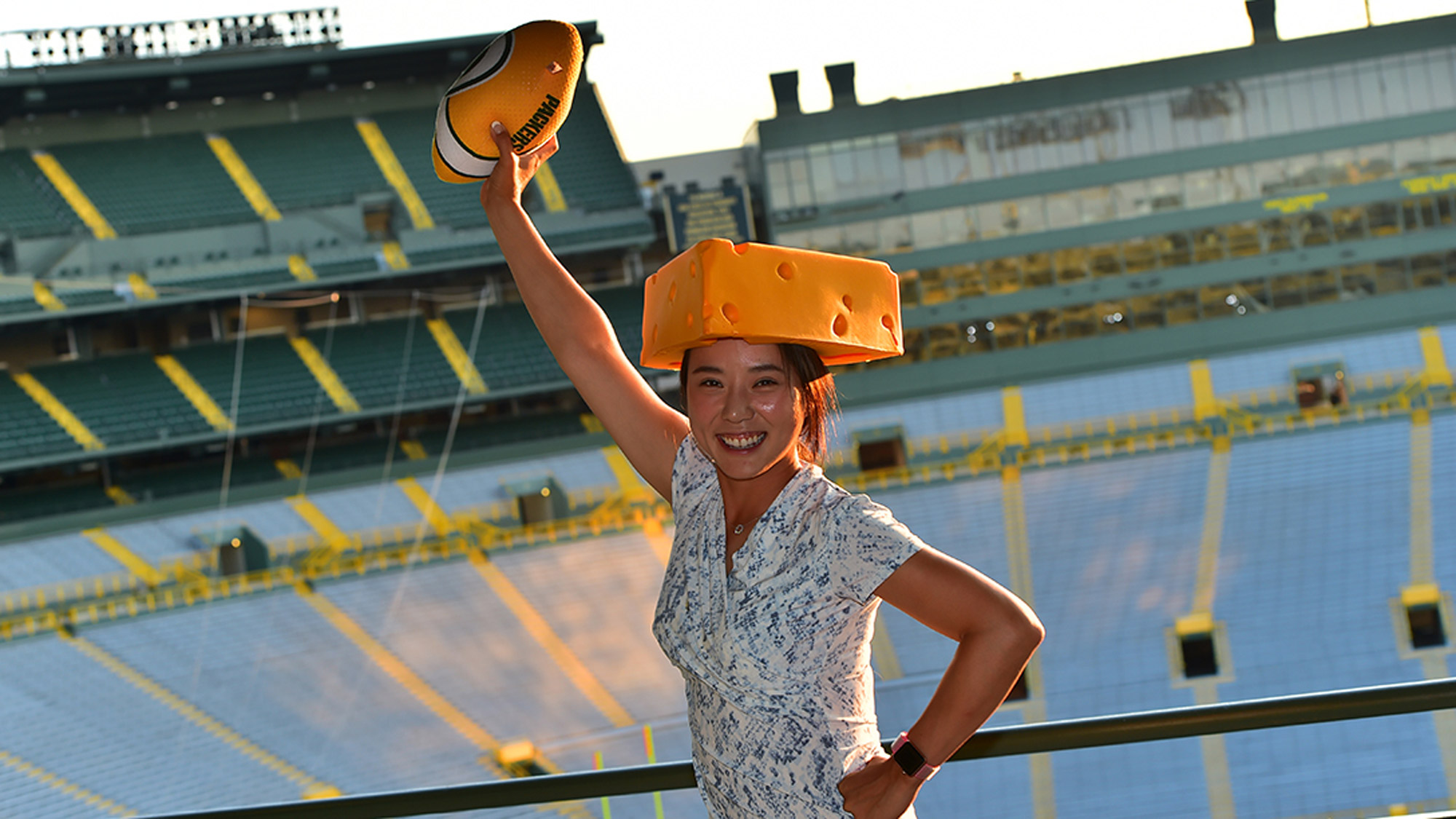 Hee Young Park at Pro Am Party at Lambeau Field