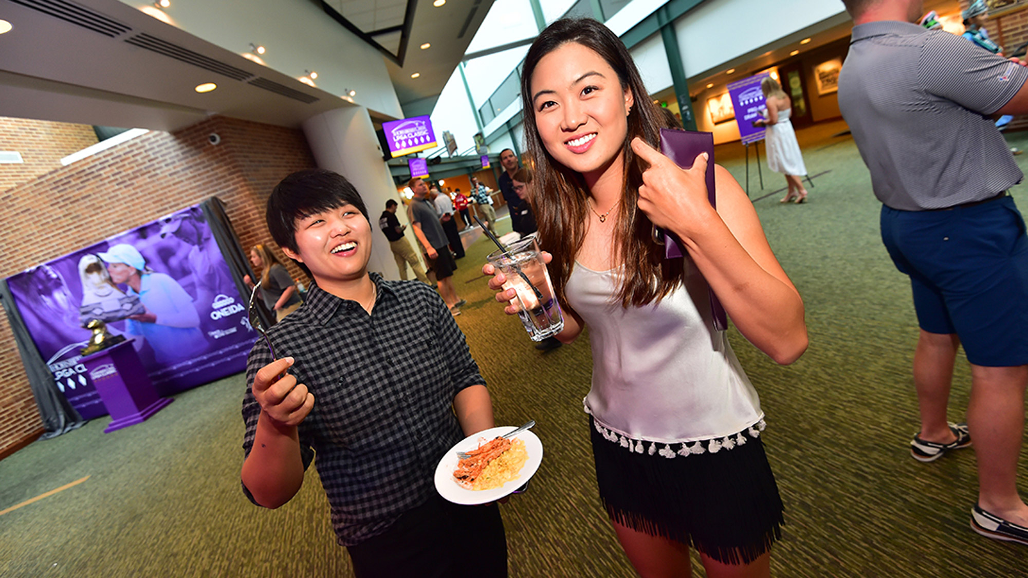 Minjee Lee and Peiyun Chien at the Pro-Am Party