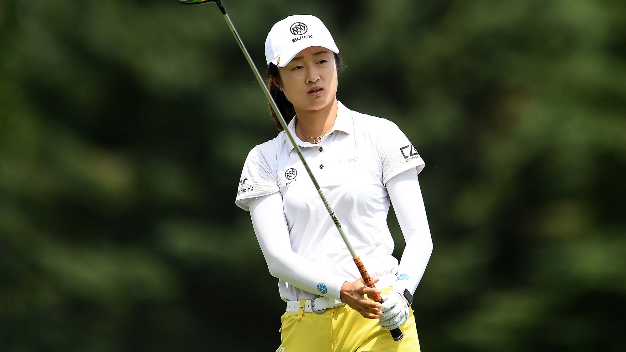 Yu Liu of China hits her tee shot on the ninth hole during the first round of the Thornberry Creek LPGA Classic