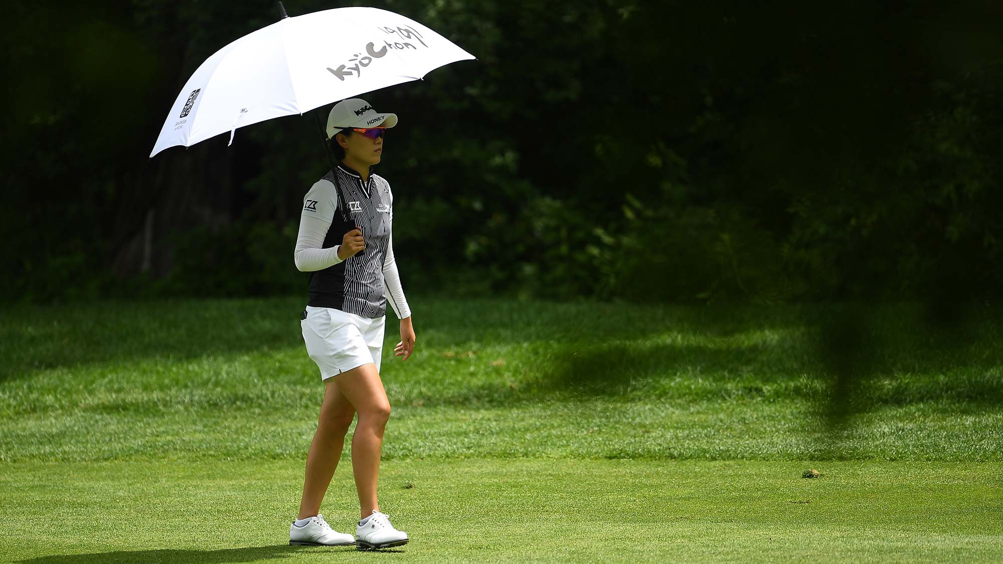 Jeong Eun Lee of the Republic of Korea walks down the first fairway during the second round of the Thornberry Creek LPGA Classic