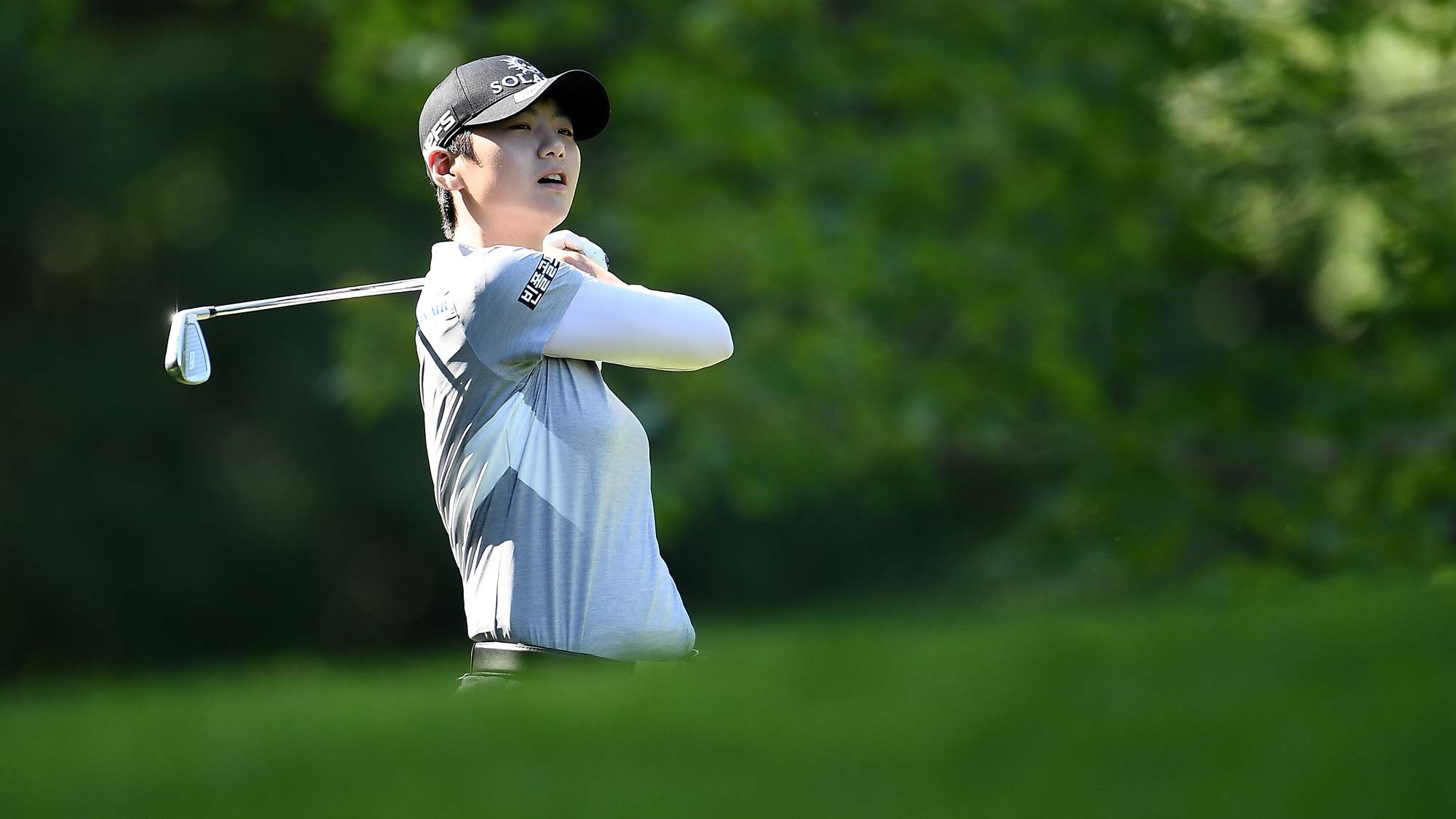Sung Hyun Park of the Republic of Korea hits her tee shot on the second hole during the second round of the Thornberry Creek LPGA Classic