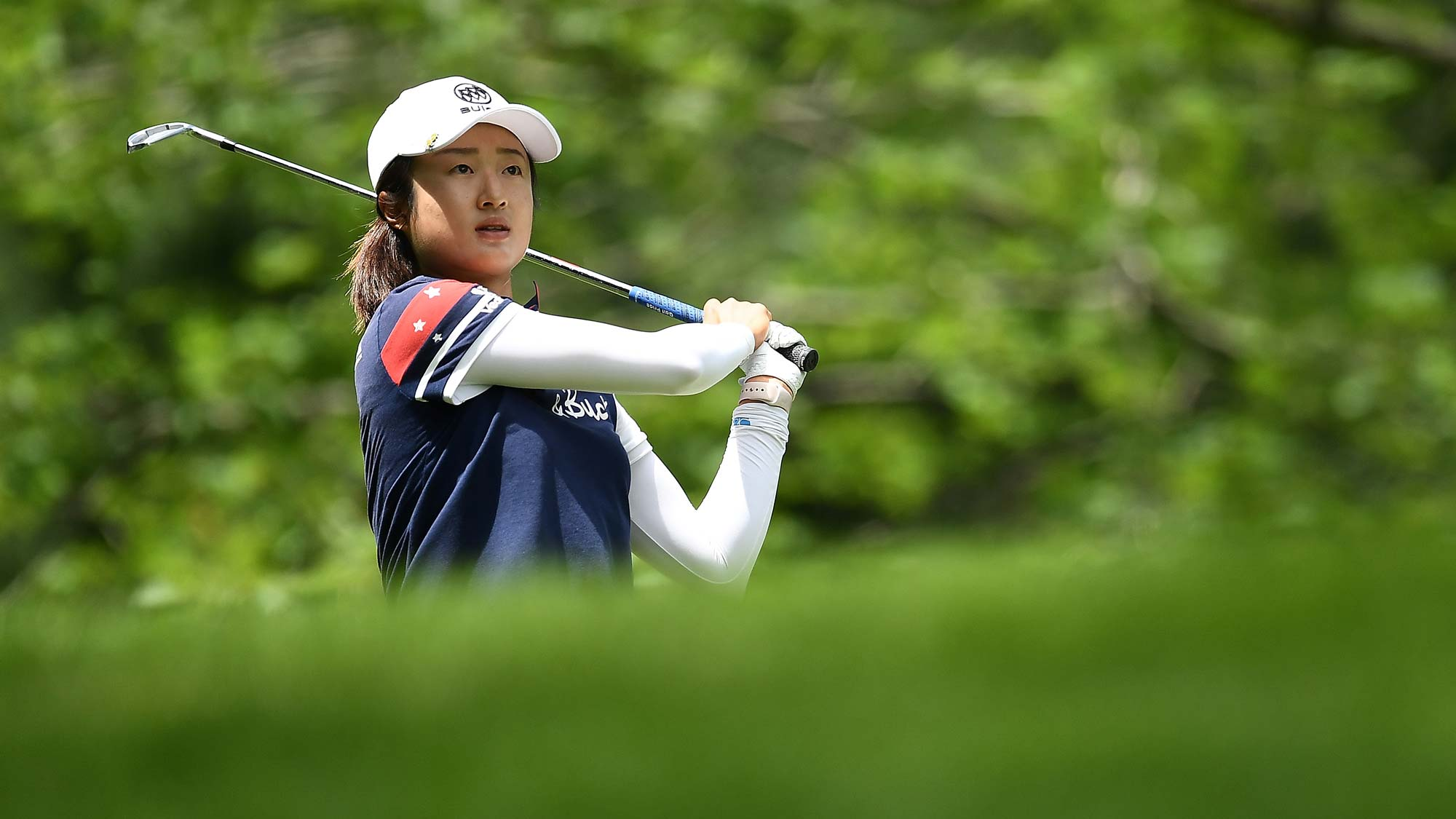Yu Liu of China hits her tee shot on the second hole during the second round of the Thornberry Creek LPGA Classic