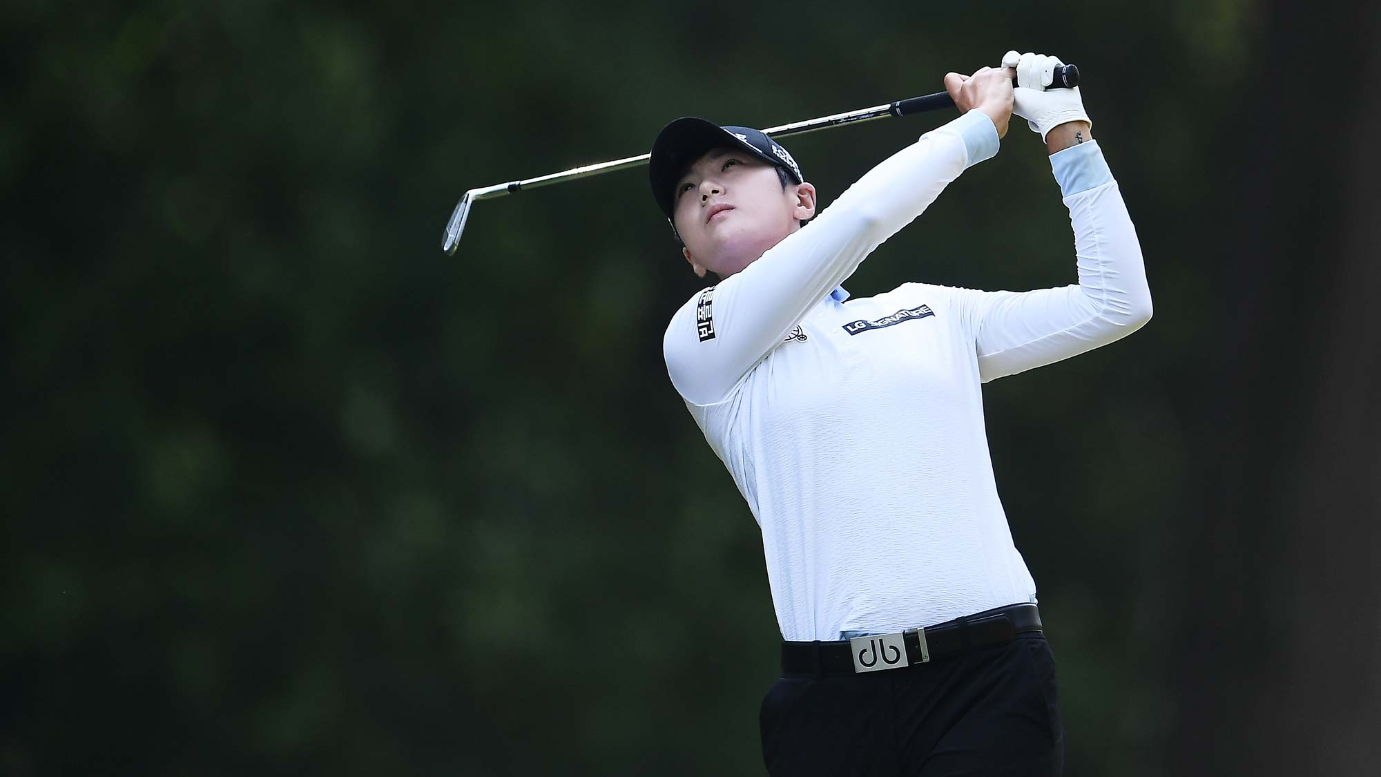Sung Hyun Park of the Republic of Korea hits her tee shot on the second hole during the third round of the Thornberry Creek LPGA Classic
