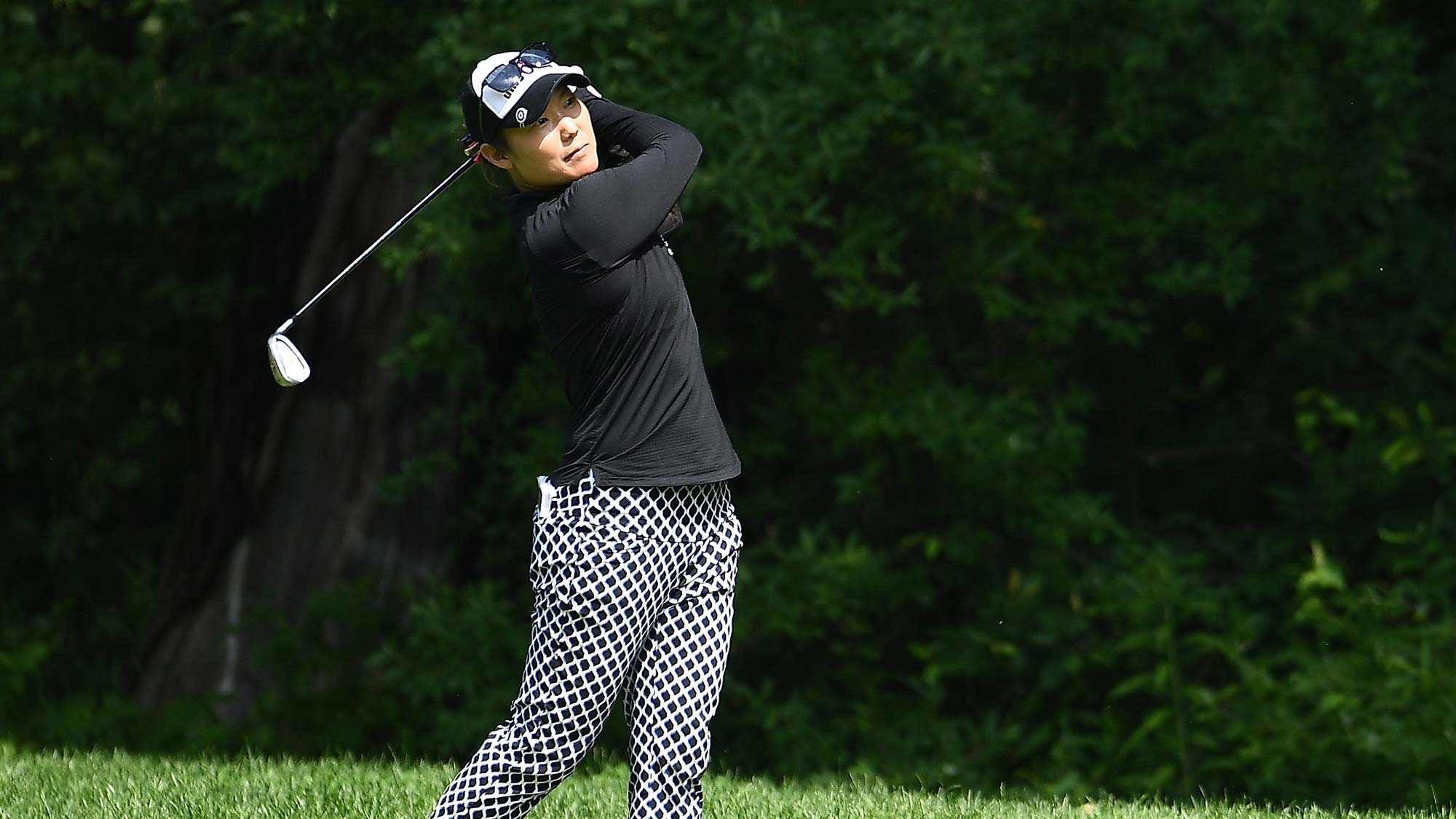 Tiffany Joh hits her approach shot on the first hole during the third round of the Thornberry Creek LPGA Classic
