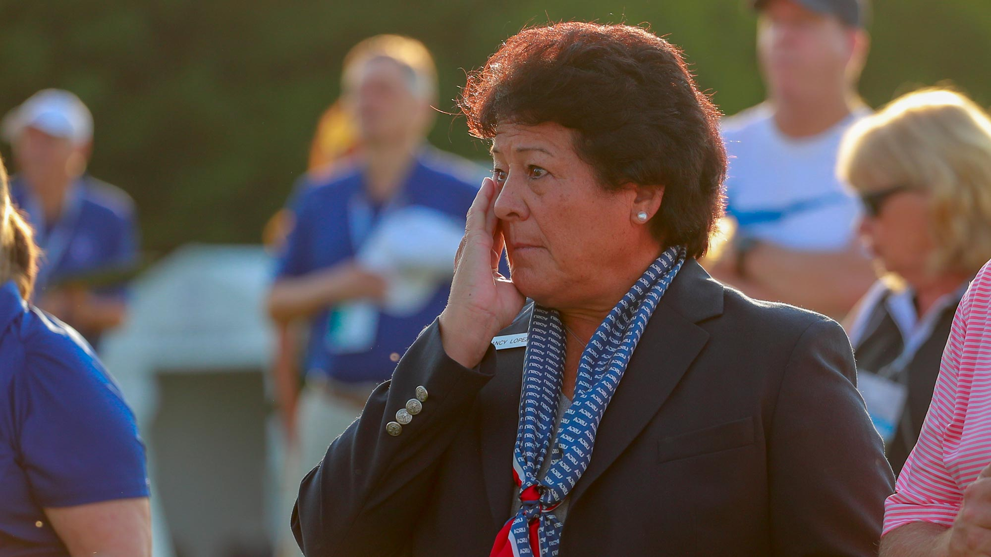Nancy Lopez was the honorary starter at the inaugural U.S. Women's Senior Open