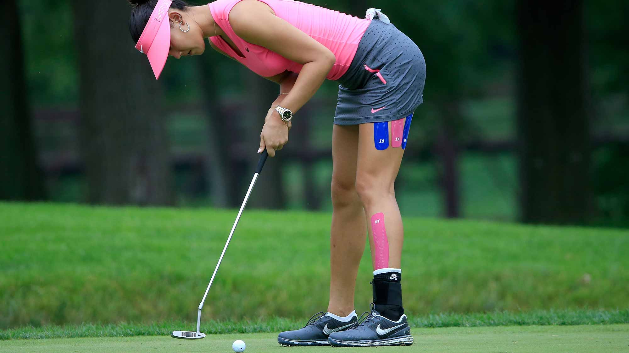 Michelle Wie of the United States plays a shot on the third hole during the first round of the U.S. Women's Open at Lancaster Country Club