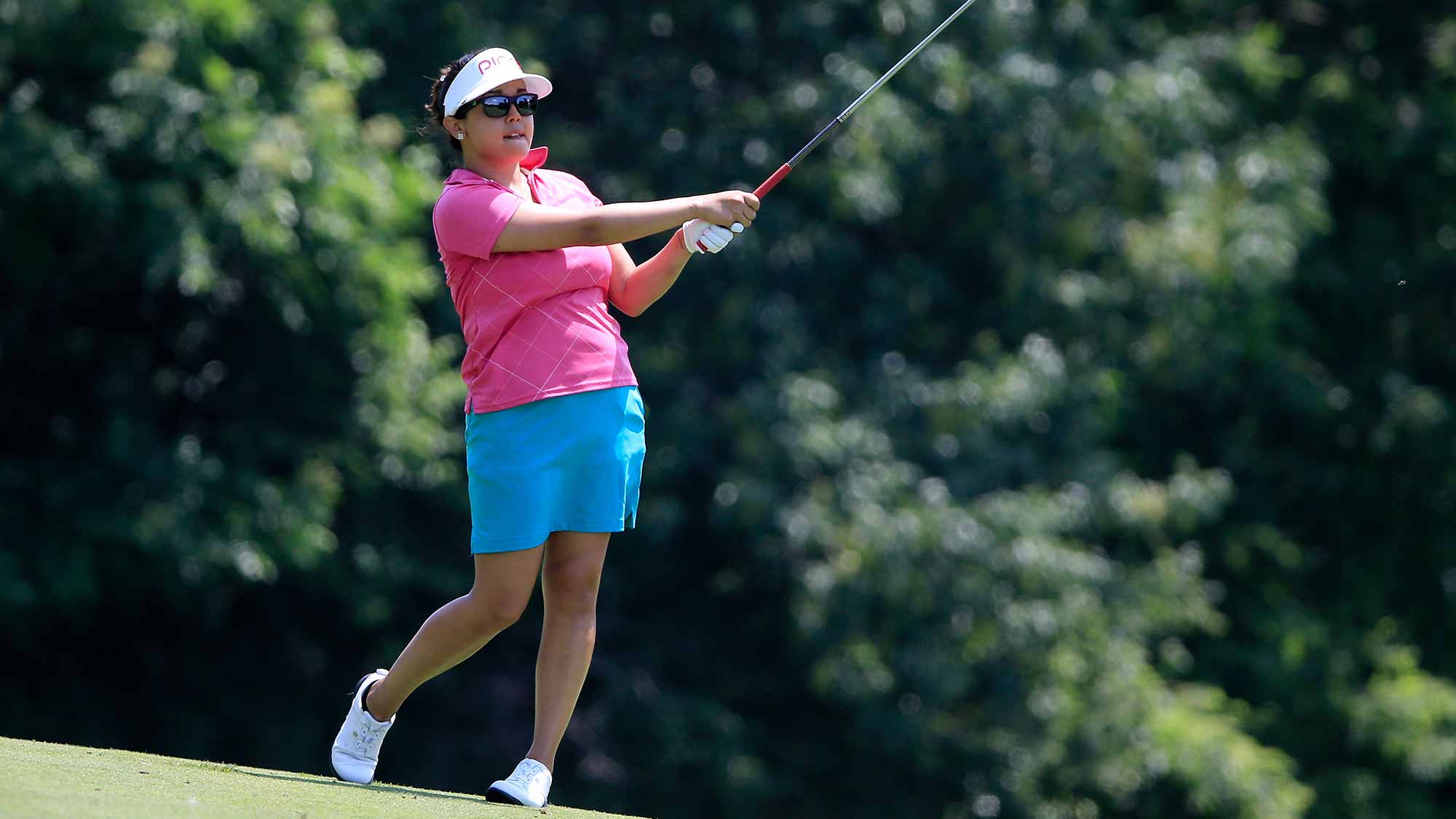 Jane Park of the United States plays a shot on the fifth hole during the second round of the U.S. Women's Open at Lancaster Country Club