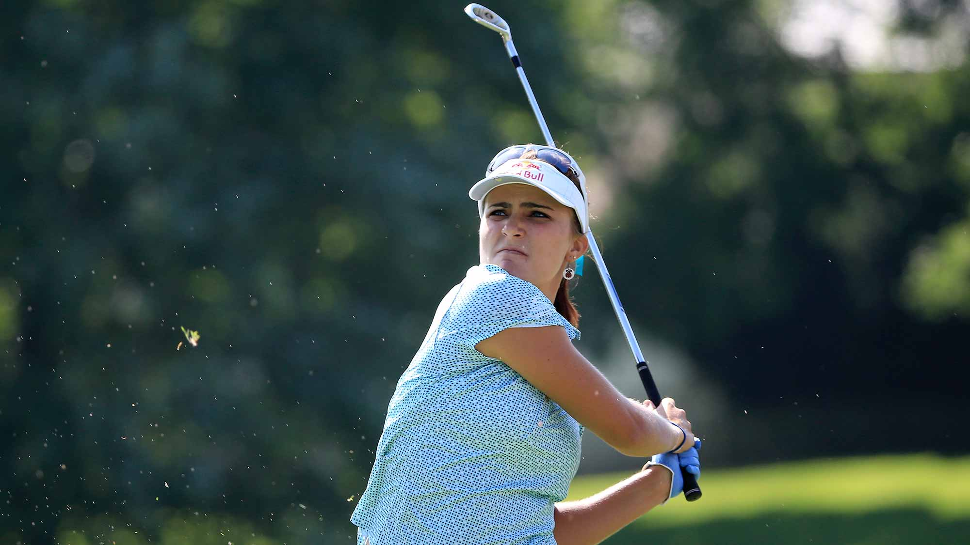 Lexi Thompson of the United States plays a shot on the sixth hole during the second round of the U.S. Women's Open at Lancaster Country Club