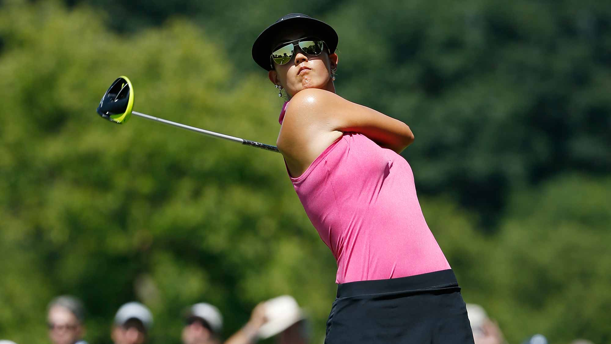 Michelle Wie of the United Staes hits her tee shot on the ninth hole during the third round of the U.S. Women's Open at Lancaster Country Club
