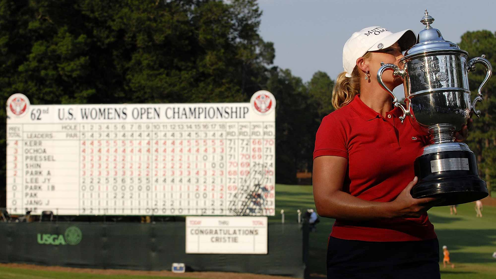 Players strike bland message at Women's Open on Trump course