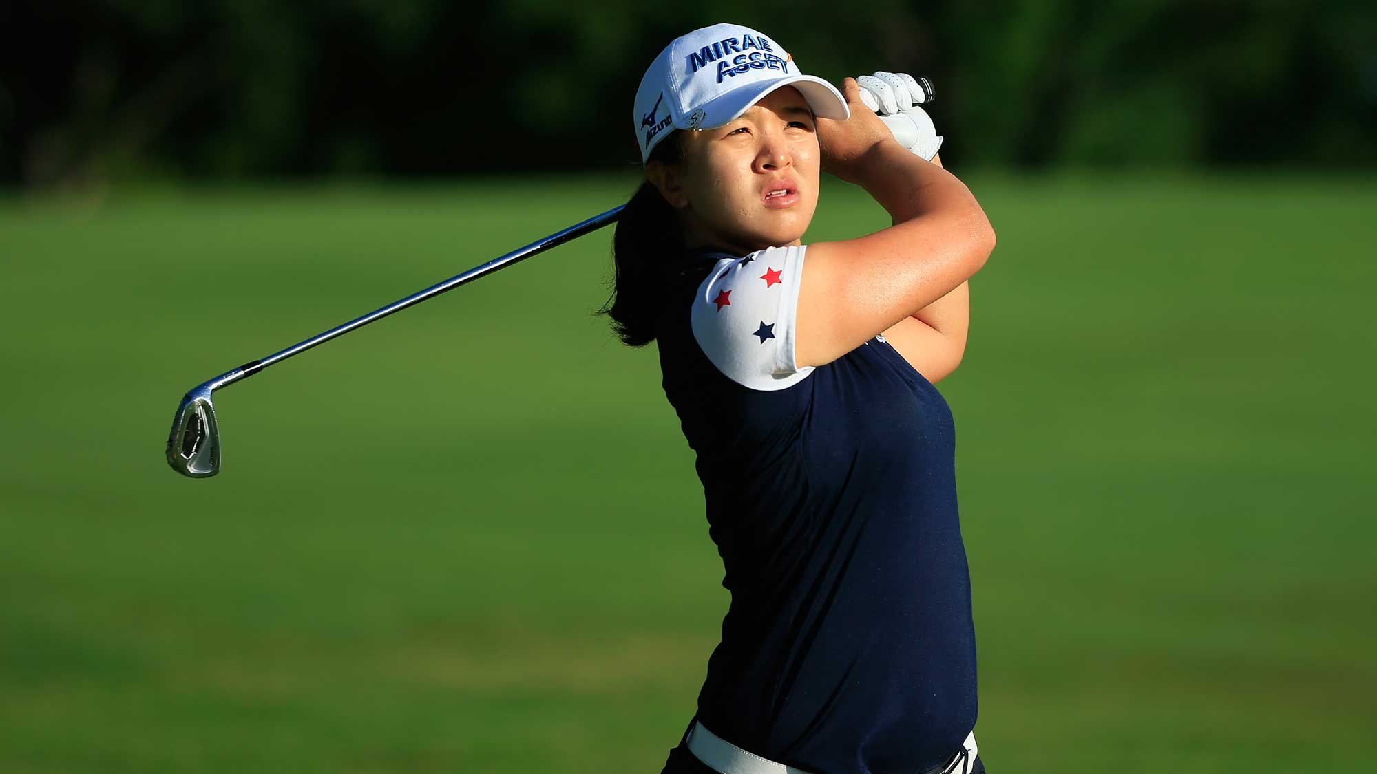 Sei Young Kim of South Korea hits her second shot on the first hole during the first round of the Volunteers of America Texas Shootout
