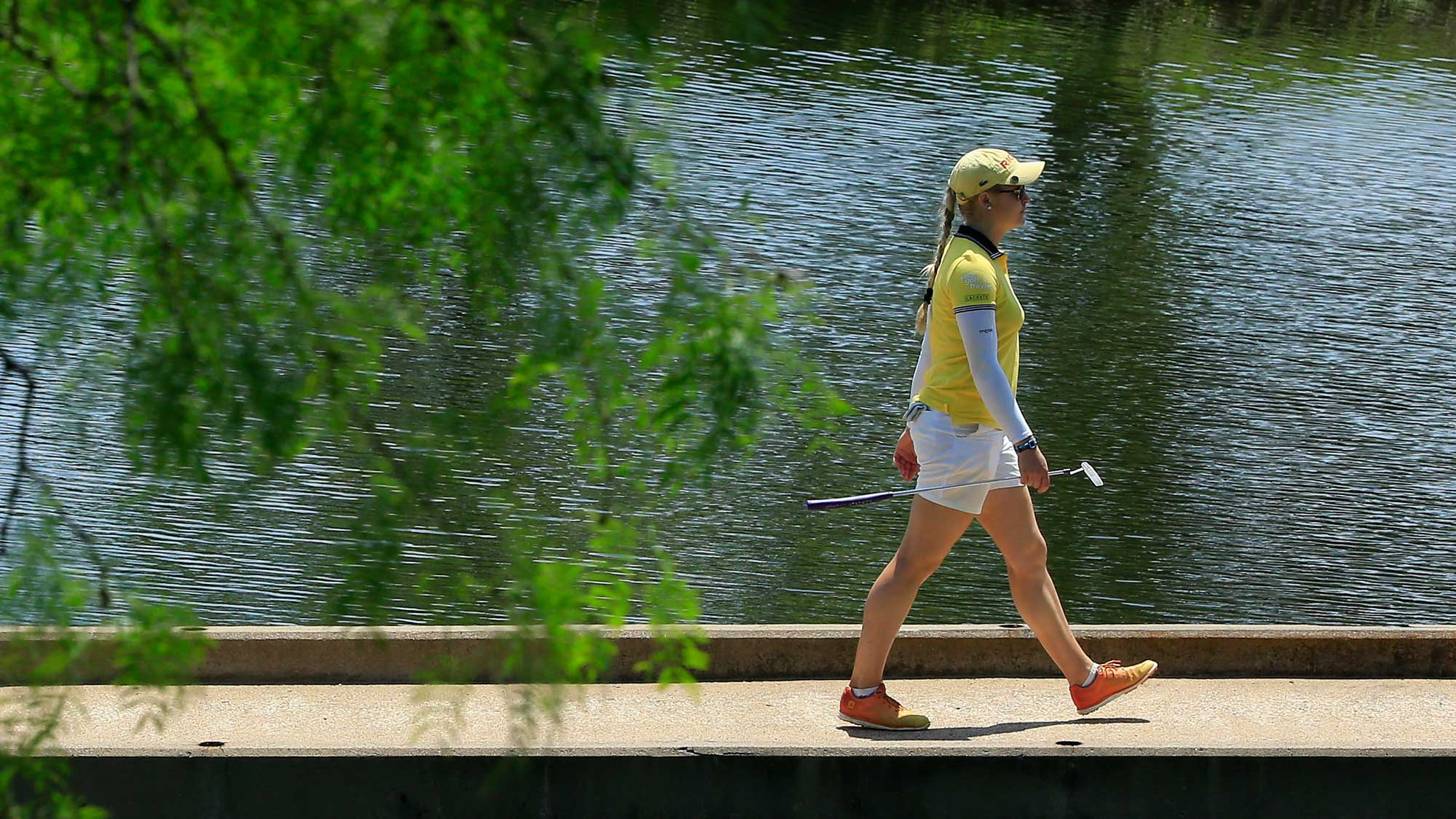 Charley Hull of England walks to the eighth green during the third round of the Volunteers of America Texas Shootout