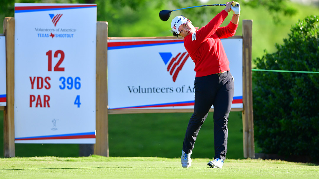 Ha Na Jang during a practice round before the 2017 Volunteers of America Texas Shootout Presented by JTBC