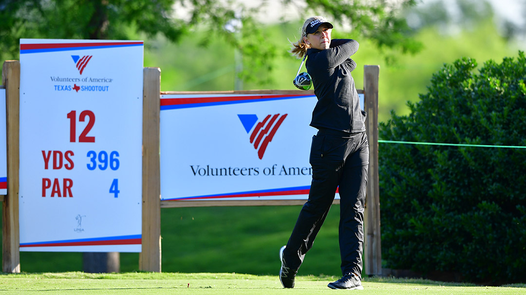 Jessica Korda during a practice round before the 2017 Volunteers of America Texas Shootout Presented by JTBC