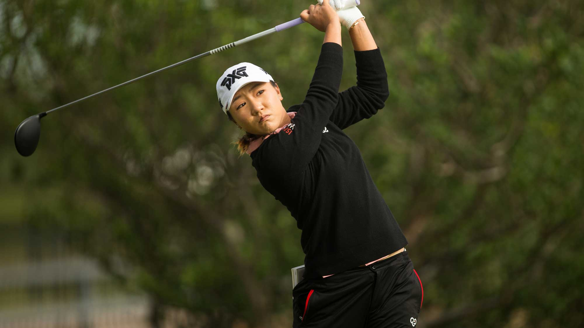 Lydia Ko of New Zealand plays a tee shot at the second hole during the first round of the Volunteers of America Texas Shootout