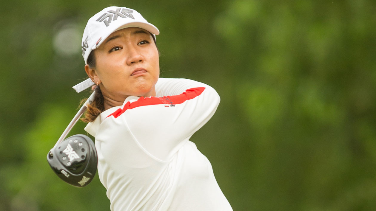 Lydia Ko of New Zealand plays her tee shot at the seventh hole during the second round of the Volunteers of America Texas Shootout