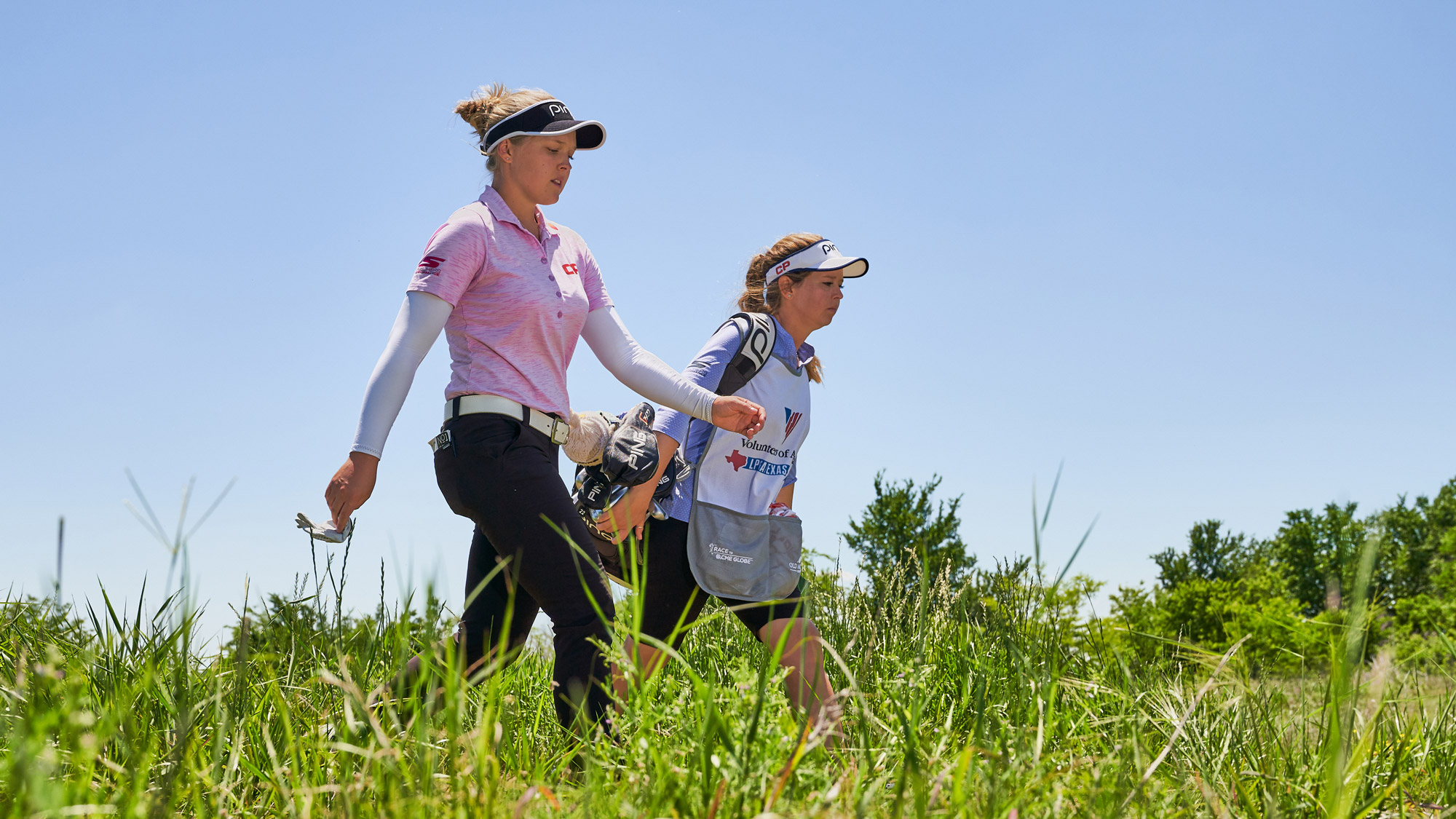 Brooke and Brittany Walk Along at Old American Golf Club