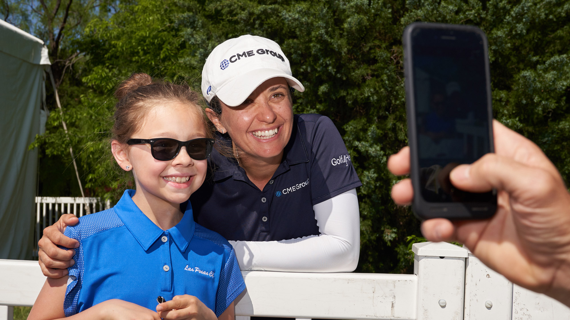 Mo Martin Poses for a Photo at the Volunteers of America LPGA Texas Classic
