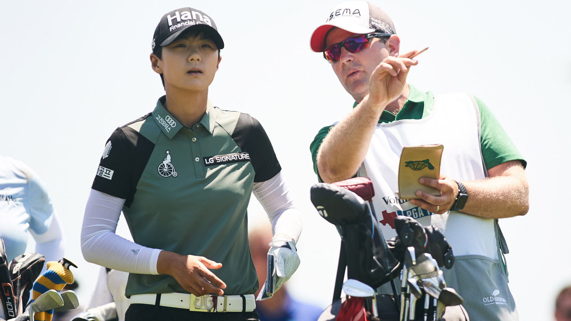 Sung Hyun Park and Caddie at VOA LPGA Texas Classic