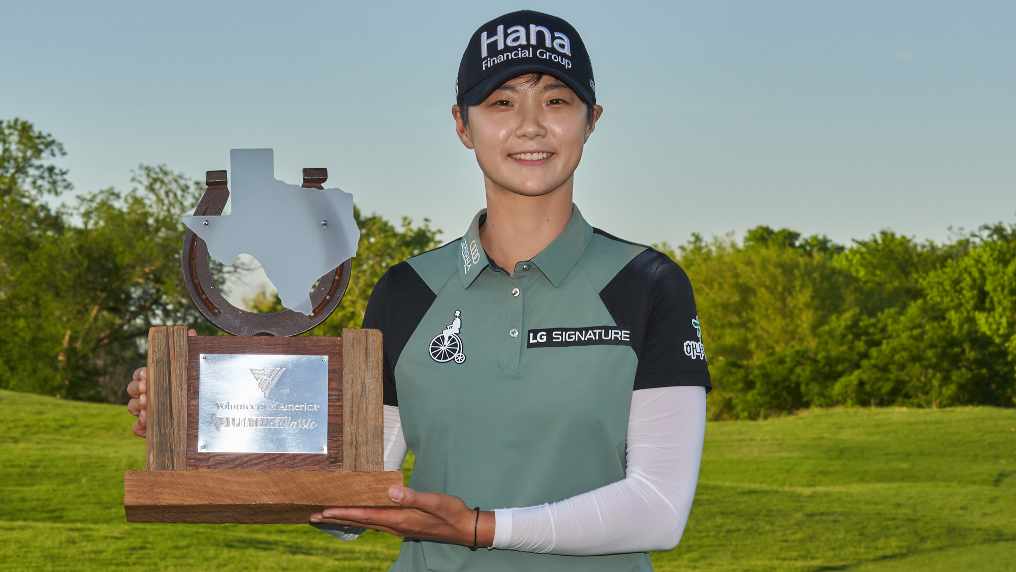 Sung Hyun Park Holds Trophy at VOA LPGA Texas Classic