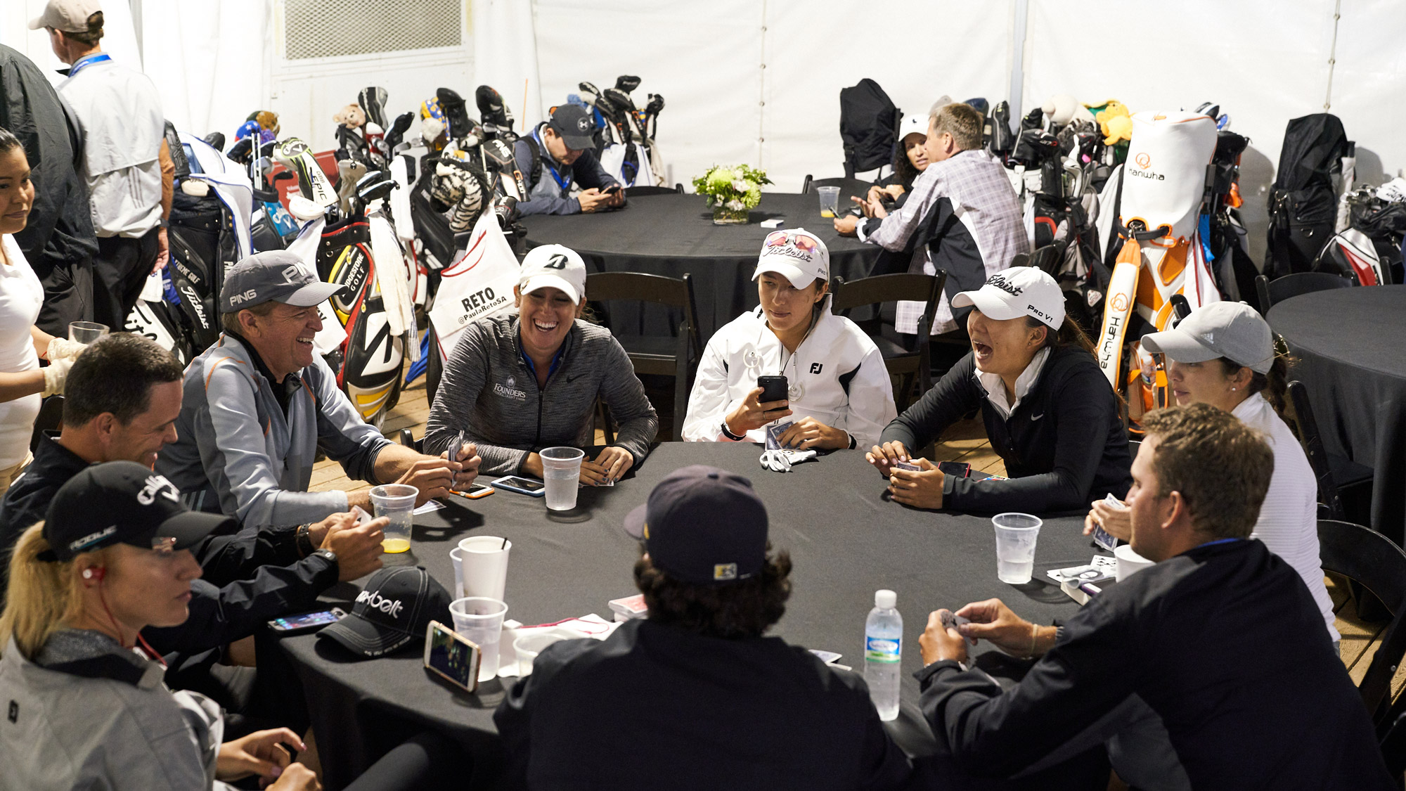 Players Hang Out During Thursday's Delay at the VOA LPGA Texas Classic