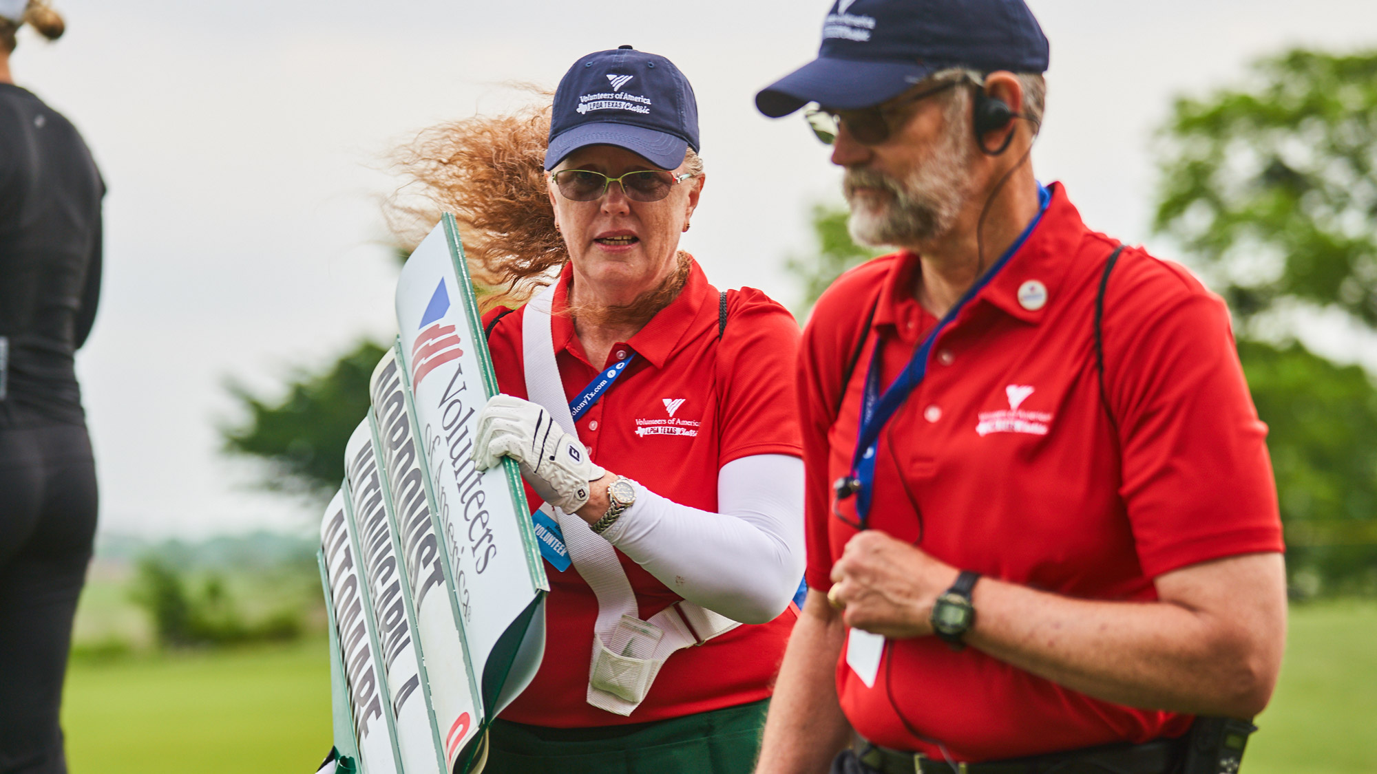 Volunteers Come in From Wind and Storms at VOA LPGA Texas Classic