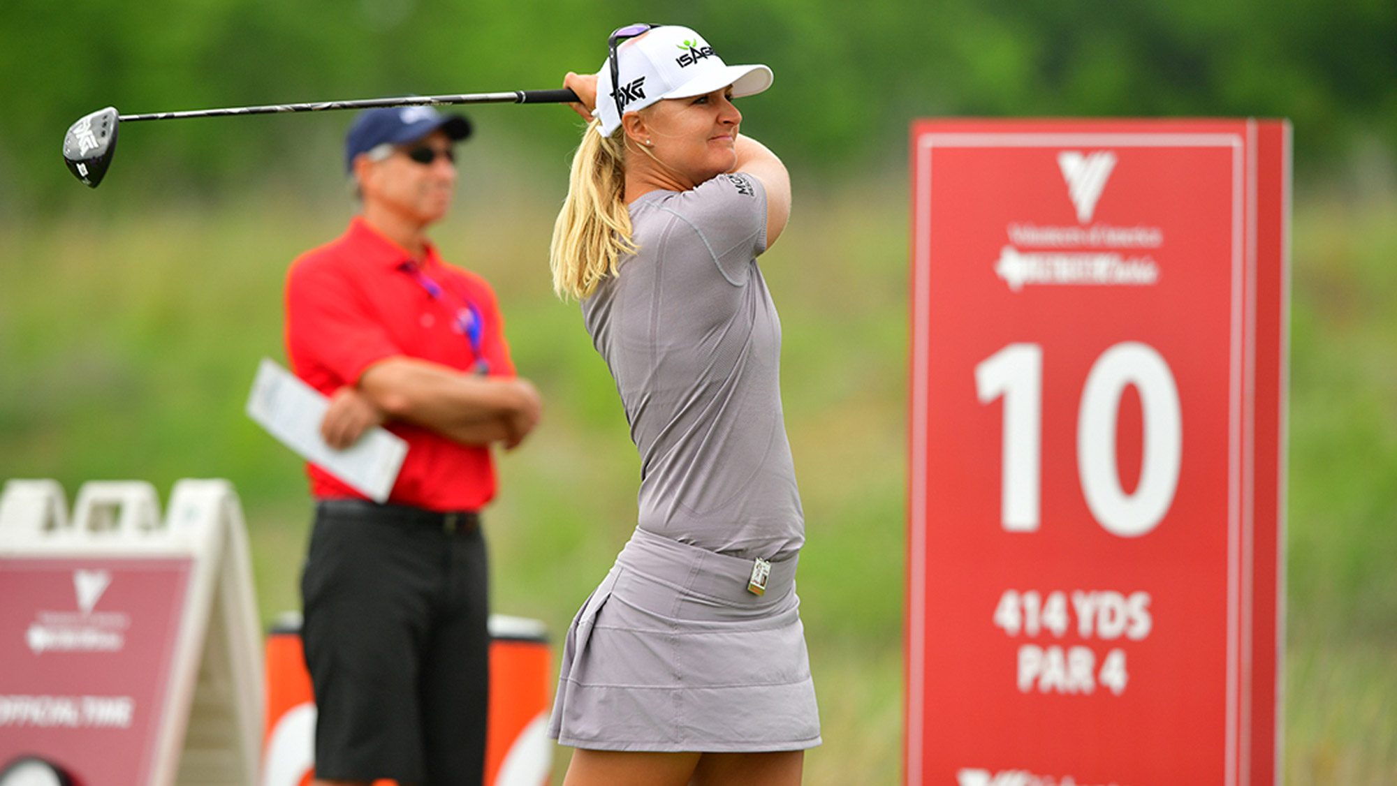 Anna Nordqvist Swings in the Pro-Am at the VOA LPGA Texas Classic