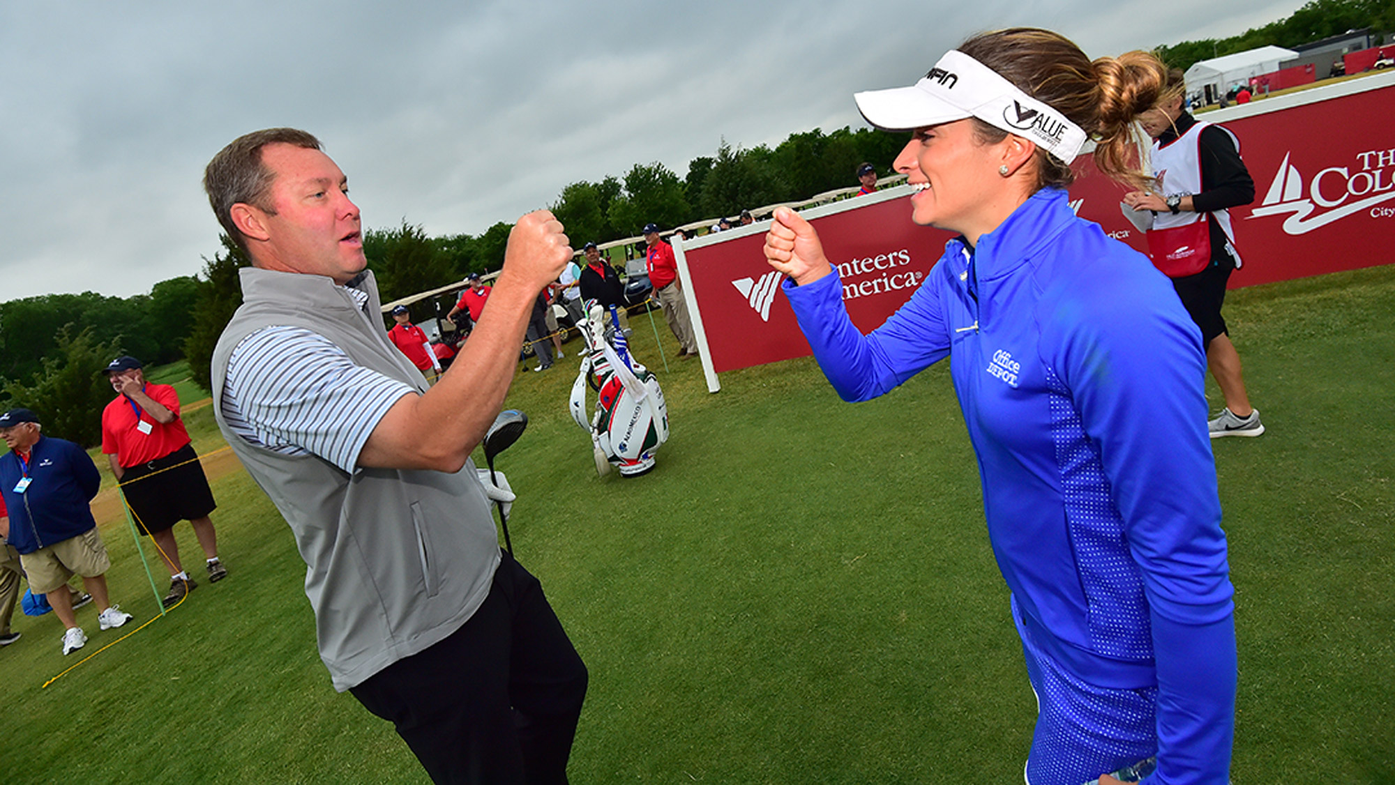 Gaby Lopez Says Hello to Mike Whan at the VOA LPGA Texas Classic