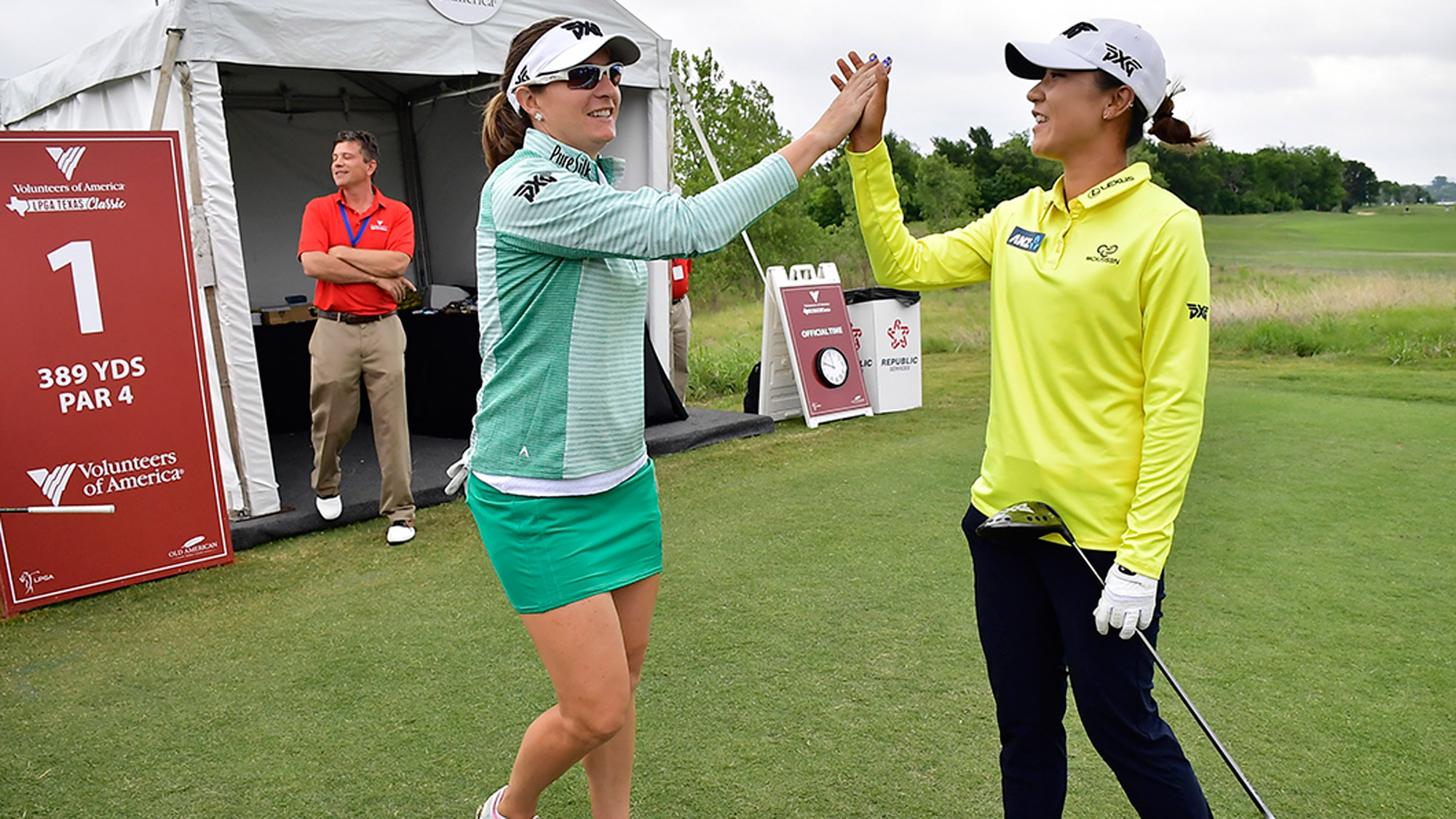 Lydia Ko and Brittany Lang Give a High Five