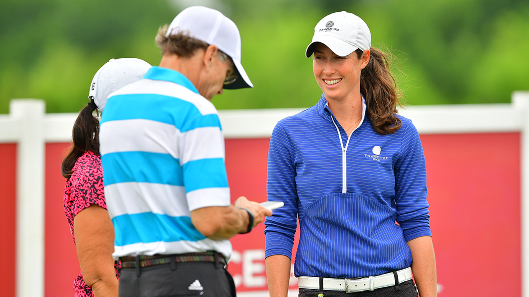 Laetitia Beck Smiles During Pro-Am at Volunteers of America LPGA Texas Classic